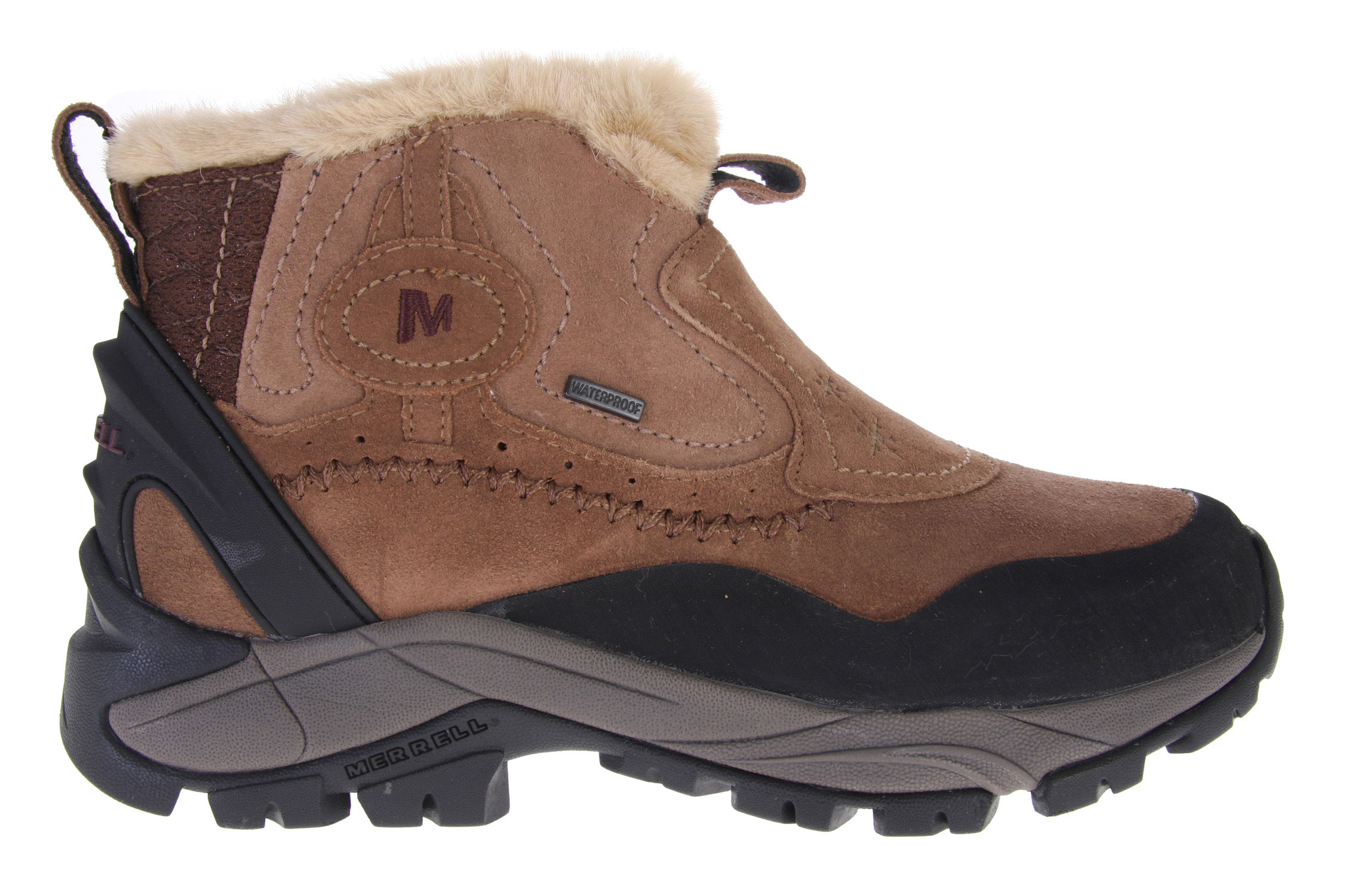 Camp and Hike Feminine and ferocious when it comes to keeping your feet warm and dry all day in the cold, the Sleet features a stealth inside zip to lock up its waterproof, insulated full-grain upper, packed with 200 grams of anti-microbial insulation to keep you feeling, smelling and looking sweet. Seize every step with Merrell's grippy Iceblock sole.Key Features of the Merrell Sleet 6 Waterproof Boots: Full grain leather upper Inside zip Waterproof membrane provides impermeable barrier 200g Thermal insulation with Aegis Antimicrobial solution Grade 1 Women's-specific Nylon Insole for trail hiking QForm Comfort combines women's specific stride-sequenced cushioning with Merrell Air Cushion Merrell Iceblock Sole/Sticky Rubber Comfort Range to -25F/-32C - $68.95