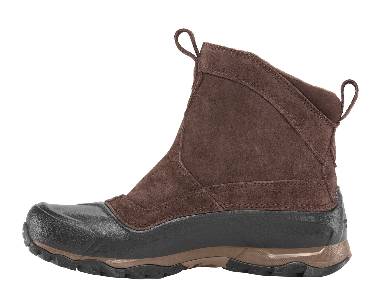 Easy on, easy off, pull-on, extremely lightweight, flexible, protective, waterproof winter boot with a protective EVA shell; keeps you light on your feet while navigating treacherous winter terrain.Key Features of The North Face Snowfuse Pull On Boots: Waterproof, BLC-compliant suede upper Waterproof construction for ultimate weather protection 200g Heatseeker insulation Fleece inner lining for all-day warmth Dual injection-molded NorthLight EVA lightweight, protective, durable shell Injection-molded EVA midsole Midfoot internal nylon shank TNF Winter Grip rubber outsole - $59.95