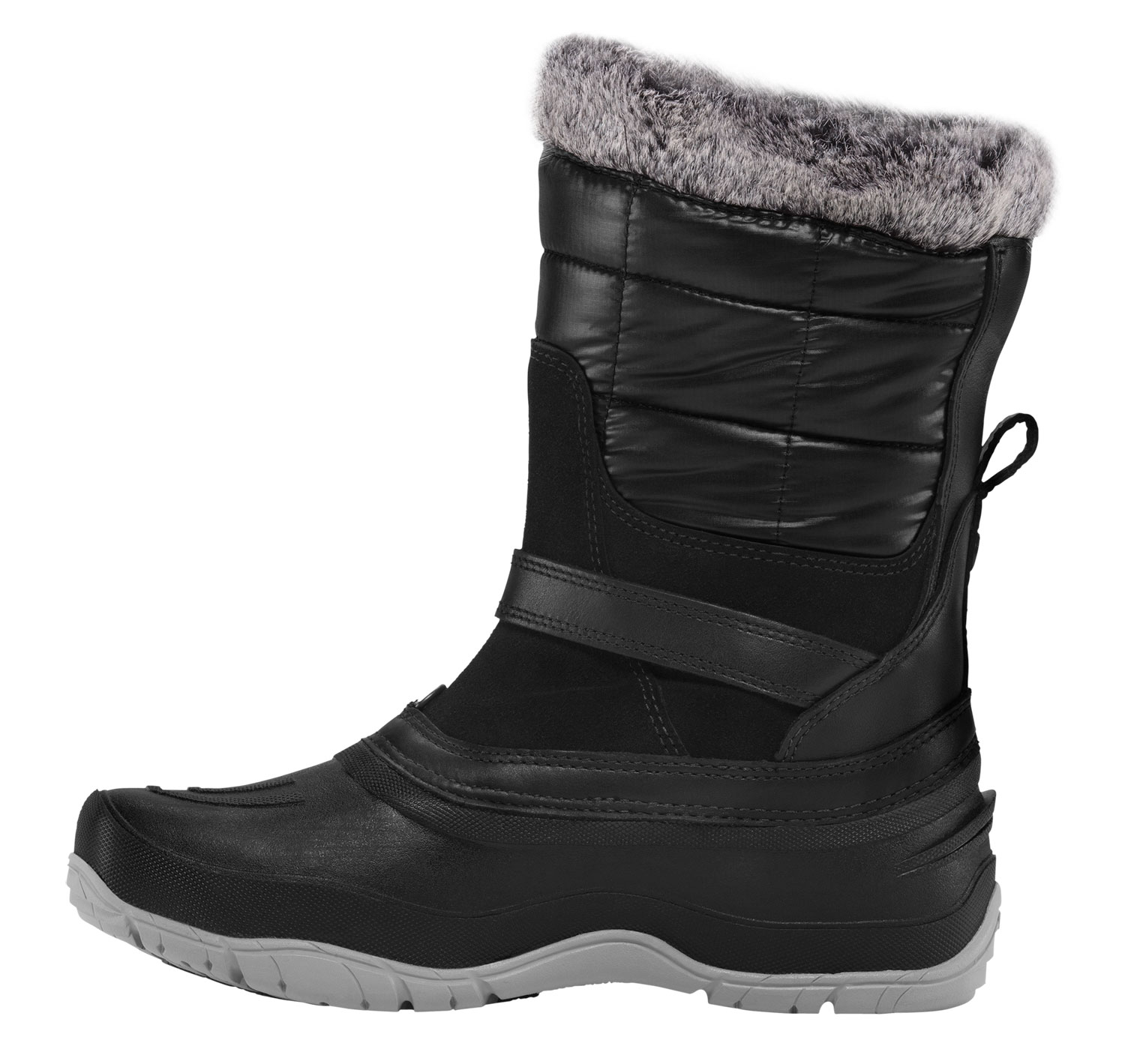 Designed specifically for women and ideal for icy commutes, an easy pull-on warm and waterproof boot made with performance materials and fashion-forward style.Key Features of The North Face Shellista Pull On Boots: Durable, water-resistant, 100% recycled PET ripstop shaft detail Waterproof, BLC-compliant full-grain and suede lather upper trims Cemented and seam-sealed waterproof construction 200g PrimaLoft Eco insulation Faux fur collar detail Anatomically engineered, injection-molded, waterproof TPR shell with forefoot flex grooves Dual-density internal midsole with three-quarter-length nylon shank Durable TNF Winter Grip rubber outsole base with IcePick temperature-sensitive lugs for superior winter traction - $93.95
