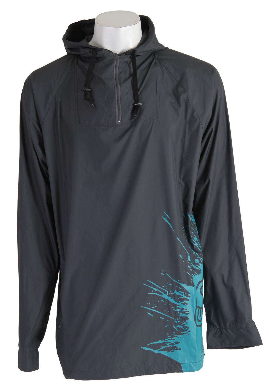 Key Features of the Airblaster Sars Jacket: Light weight Built in face mask Perfect for spring/summer Water-resistant rip stop Classic Airpill splash graphic - $64.95