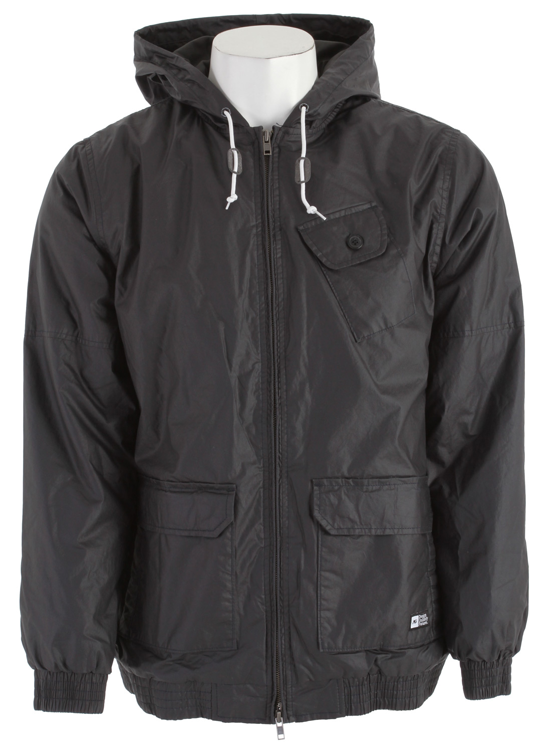 Entertainment Key Features of the Analog Portland Insulated Jacket: Regular fit 2-way zip front hooded jacket Double patch hand pockets and Asym chest pocket Gathered elastic hem and cuffs with inner pocket at left chest Coated 100% Cotton poplin Weather resistant 120gm poly insulation with solid flannel lining - $77.95