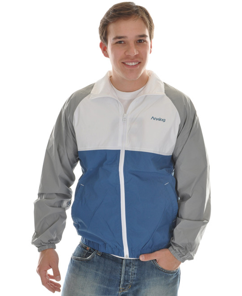 This Analog jacket is stylish as well as versatile. The lightweight material it is made of is perfect from blocking out wind and rain to keep you comfortable. The logo on the chest and the slash pockets add style and offer versatility. The elastic cuffs and waistband give you a secure and snug fit so the jacket feels well fitted. This jacket is perfect for casual wear or to wear on those cool spring days outside. Make sure to pick up this jacket if you're looking for something light to break the wind or to wear casually.Key Features of the Analog Team Player Jacket: Chest logo print Slash pockets Neck print Concealed zip pocket with elasticized straps Elasticized cuffs and waistband - $34.95