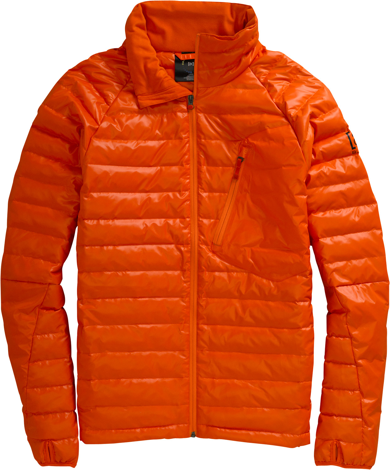 Snowboard From stylish street piece to life-saving extra layer,powerful, ultra-packable warmth.Key Features of the Burton AK BK Insulator Jacket: 600mm Waterproof Lightweight Low Denure DWR Coated Fabric DRYRIDE Thermex 550 Down Fill Pit Zips Fleece-Lined Handwarmer Pockets Chest Pocket - $174.95