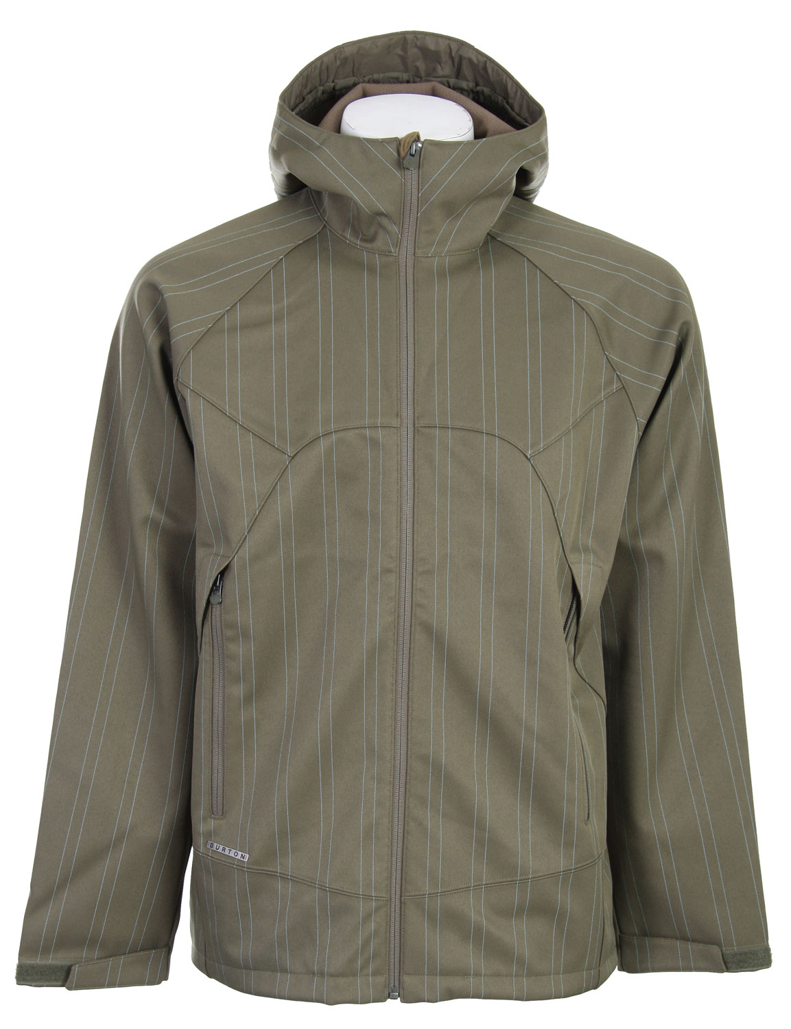 Camp and Hike Historically speaking, being soft has meant being weak or sissy or whatever, but rest assured, there is nothing soft about the Burton Beacon Softshell Jacket. The warm, breathable, and quick-drying fleece lining is wrapped in a weatherproof dobby pinstriped DRYRIDE Softshell fabric, making it a highly functional and stylish jacket for everything from riding, to hiking, to cruising the streets. Oversized, ventilating handwarmer pockets keep the paws comfortable so they'll be ready for battle in the off chance someone says something about your Softshell Jacket being soft. Key Features of The Burton Beacon Softshell Jacket: 10,000mm Waterproof Fleece Lining DRYRIDE Dobby Pinstripe Stretch Softshell Fabric [10,000MM Waterproofing] Fulltime Hood Oversized Handwarmer Pockets with Mesh Venting Super Soft Interior Collar and Zipper Guard at Chin - $107.95