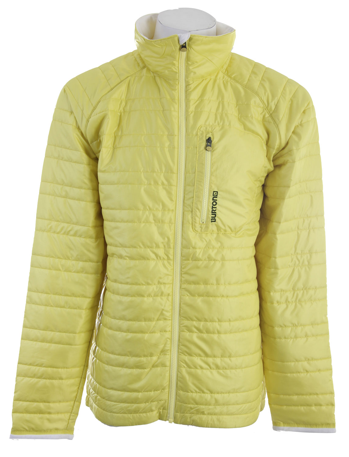 Snowboard This lightweight jacket features Thermacore Insulation, a Dryride Thermex Super Soft nylon shell, and micro fleece chin guard. Regardless of the conditions outside, the Burton Decibel Insulator Snowboard jacket will be the yin to your yang. The perfect insulating layer for any snowboard jacket shell. Key Features of the Burton Decibel Insulated Snowboard Jacket Barrier Yellow: DRYRIDE Thermex Super Soft Nylon [600MM] Thermacore Insulation Snap-Back Powder Skirt Microfleece Chin Saver - $71.95