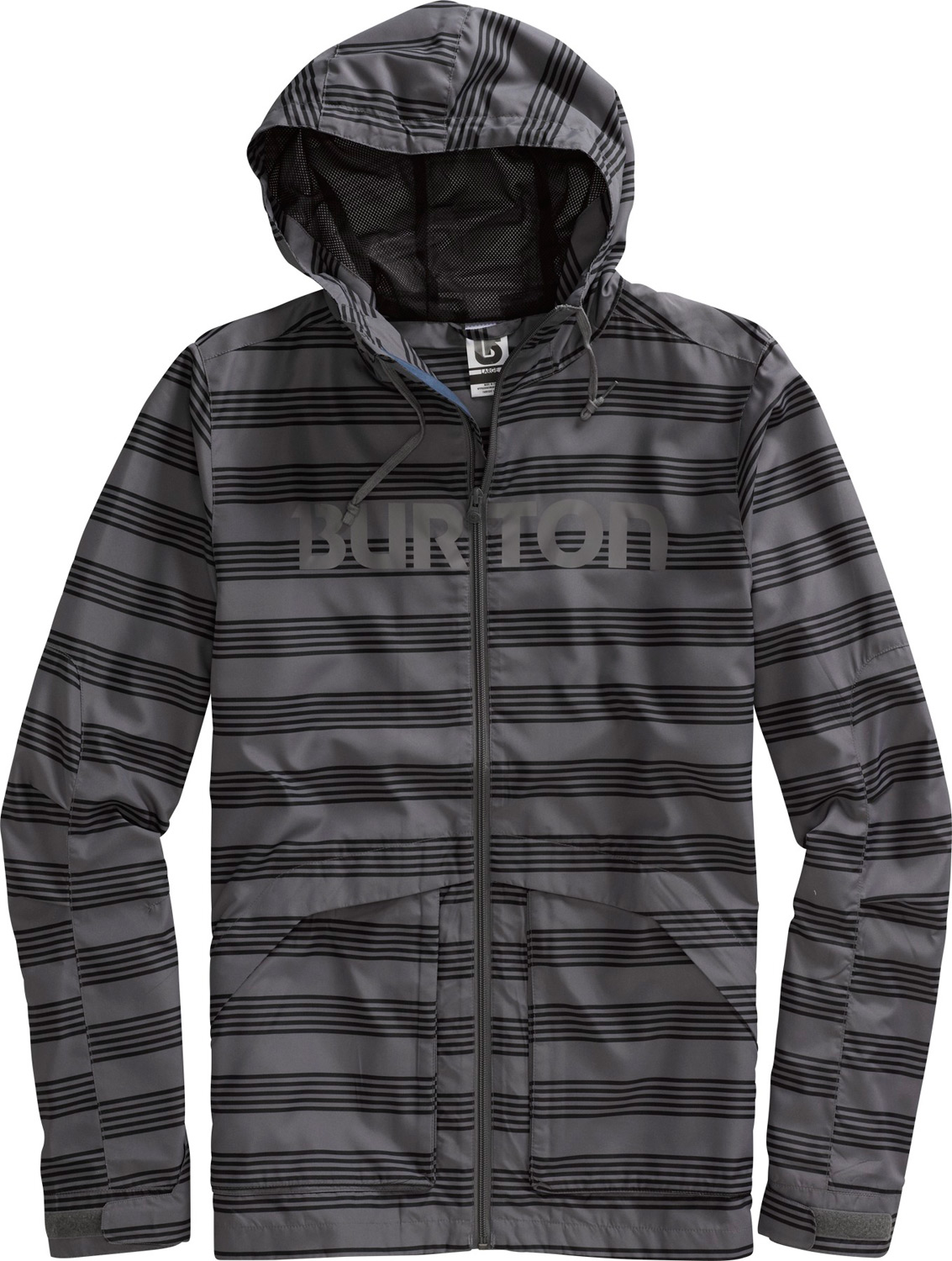 Snowboard Elemental resistance - wind or rain, a dry decision for when the weather is undecided.Key Features of the Burton Dover Jacket: 100% Micro Polyester AirTech® Fabric with DRYRIDE Mist-Defy Street Fit Microcell Mesh Lining Screen Printed Logo at Chest - $69.95