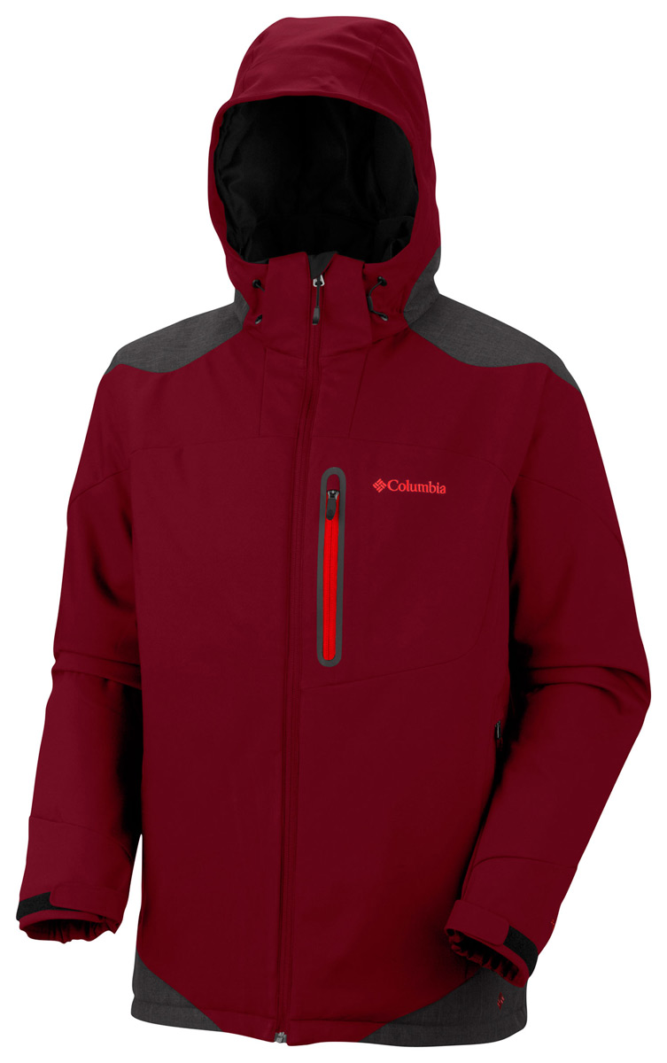 Skateboard Columbia Extraction Point Jacket Red Element/Blade/Hot Rod Zips - $122.95