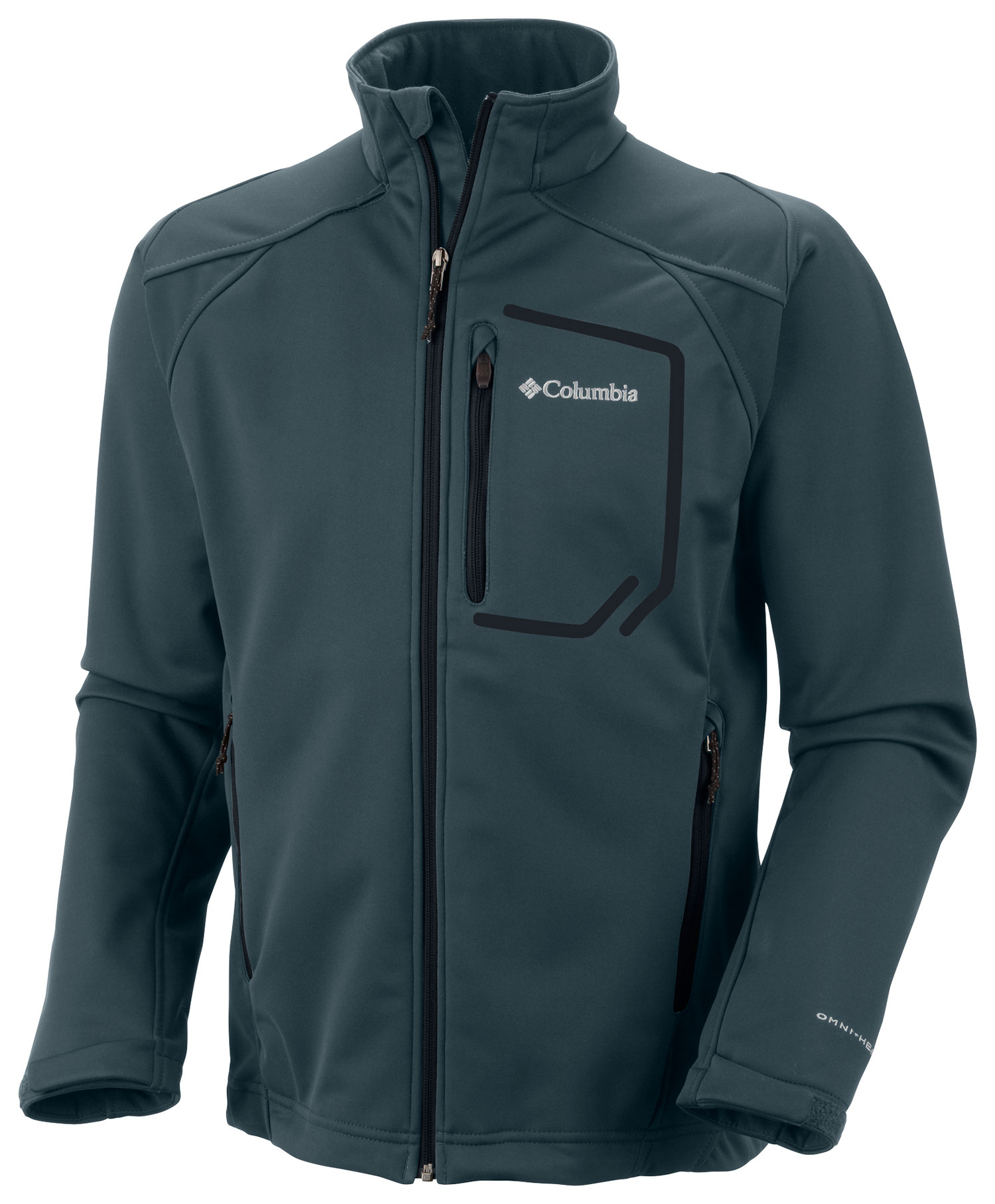 Key Features of the Columbia Key Three II Softshell Jacket: FABRIC Shell: 100% polyester 3L Butter Heat softshell. Lining: 100% polyester Reflective print tricot. FIT Active Omni-Wind Block windproof Omni-Heat thermal reflective Omni-Shield advanced repellency Bonded softshell 2-way comfort stretch Drawcord adjustable hem Zip-closed chest pocket Zip-closed hand pockets Abrasion resistant chin guard - $111.95