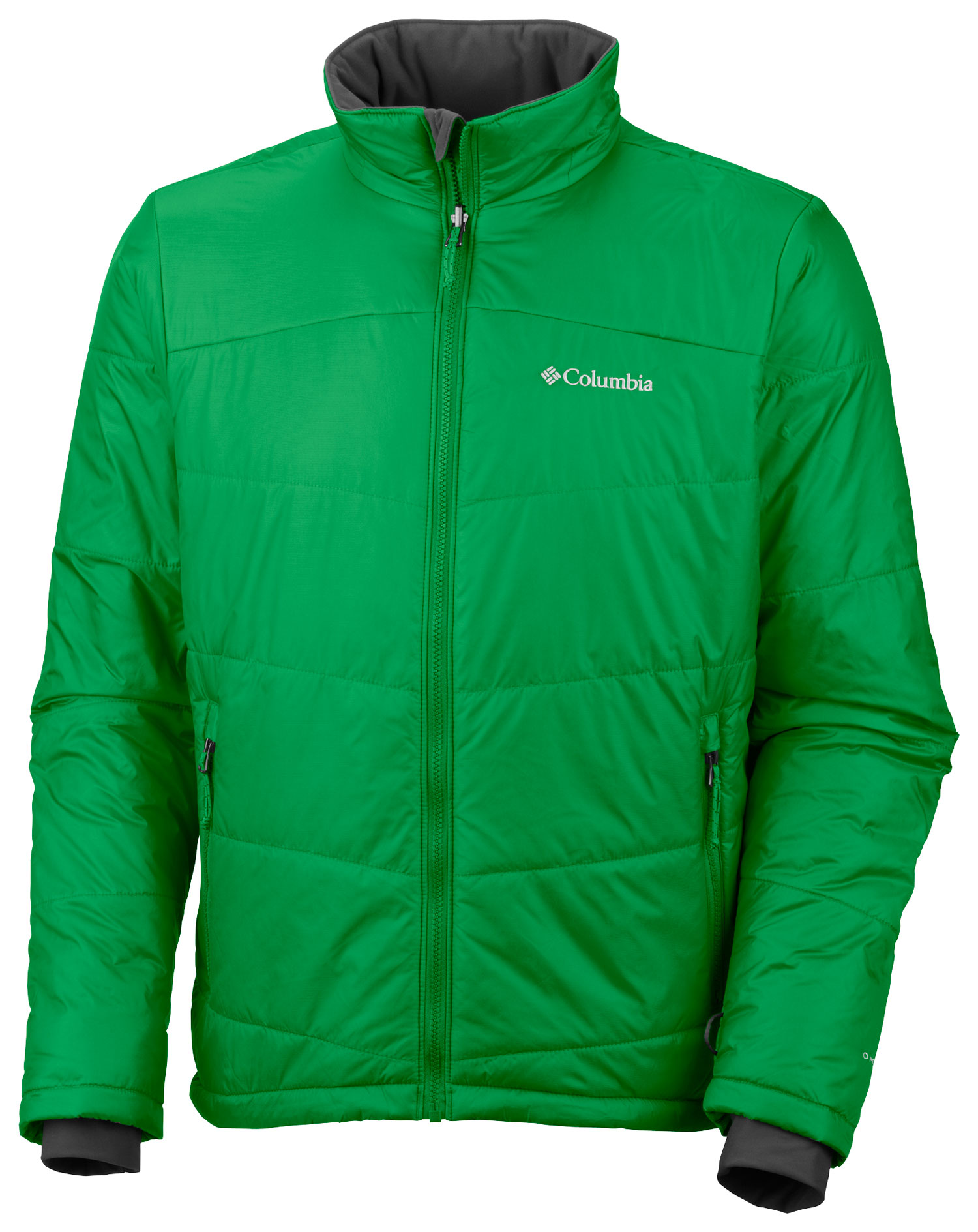 Key Features of the Columbia Shimmer Me Timbers II Jacket: FABRIC Shell: 100% nylon Shadow Rip ripstop. Lining: 100% polyester Thermal Reflective. Insulation: 50% polyester/50% recycled polyester, 100g OH insulation. FIT Modern Classic Omni-Heat thermal reflective and insulated Omni-Shield advanced repellency Zip-in and 3-point Interchange System Interior security pocket Drawcord adjustable hem Zip-closed hand pockets - $103.95