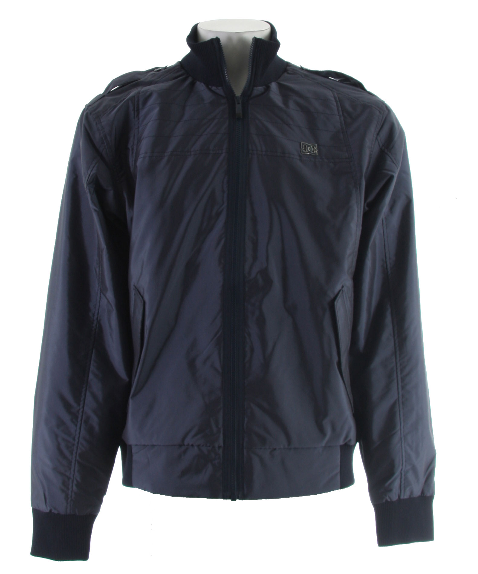 Entertainment Key Features of the DC Bryce Jacket True Navy: 30g Poly-Insulated Standard Fit Streetwear Jacket 2 Handwarmer Pockets - $47.95