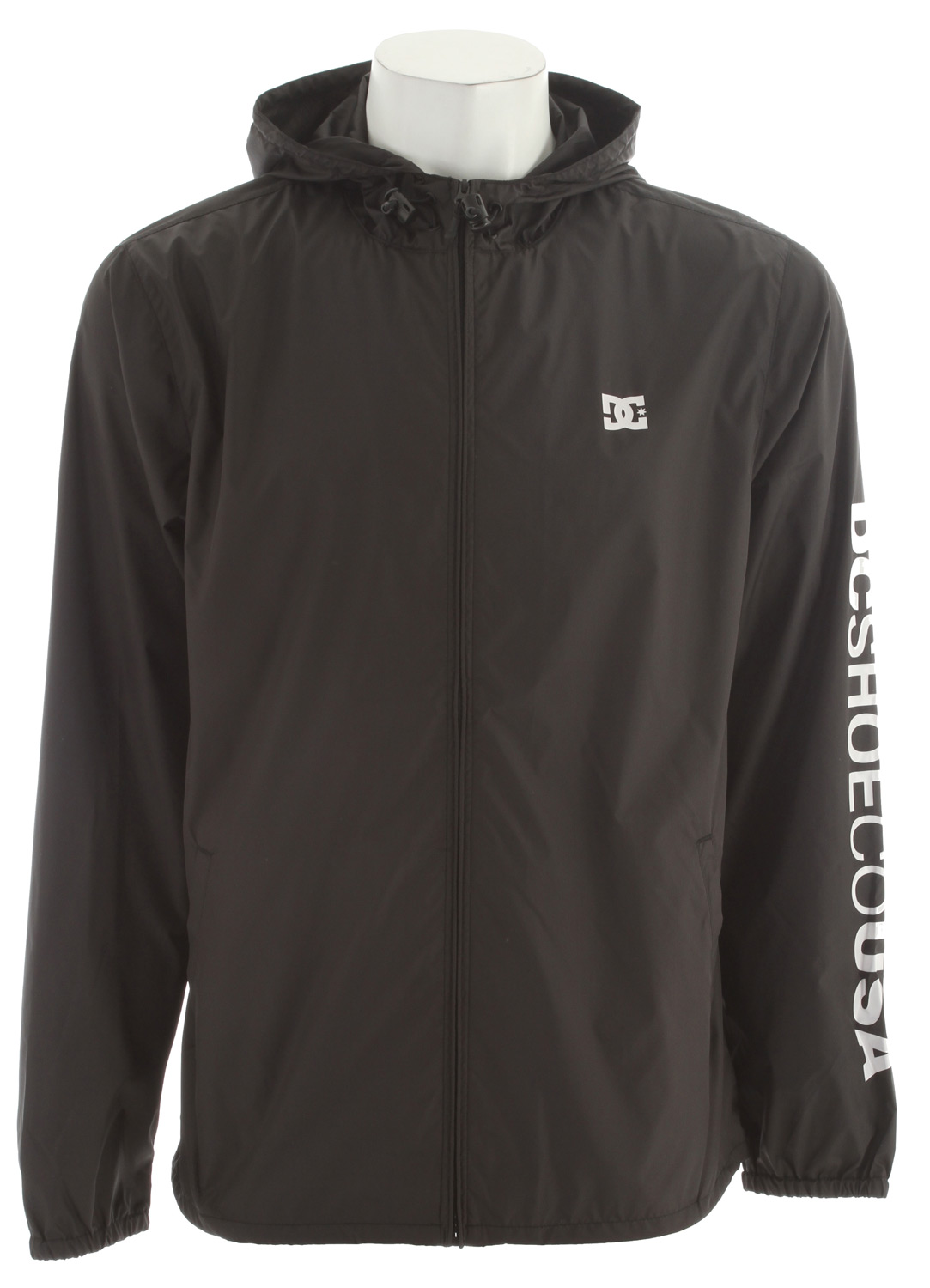 Soft shell jacket 100% polyesterKey Features of the DC Cambria Softshell Jacket: Soft shell poly one color screen print at chest and sleeve custom logo trim package 1000 mm coating 100% Polyester - $38.95