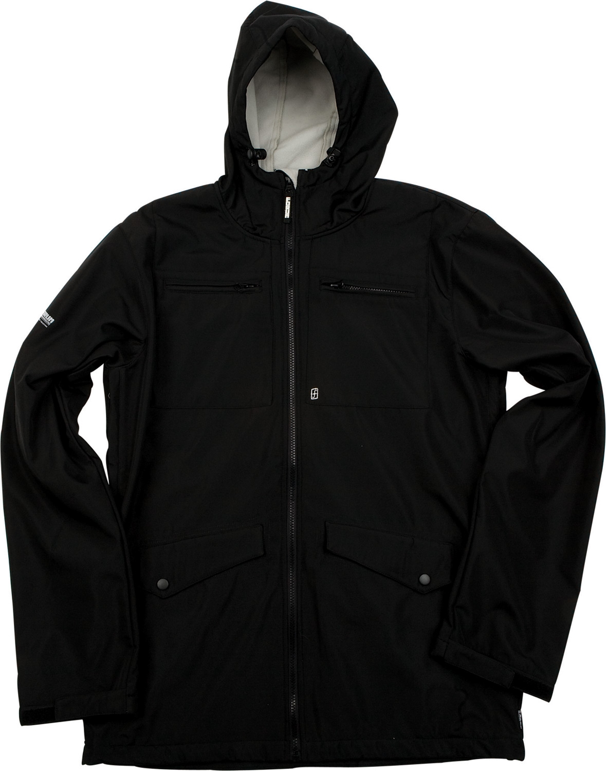 "Snowboard Key Features of the Forum Jackson Softshell Snowboard Jacket: 100% polyester Softshell with DWR Coating 600mm 8"" Vent Opening Multiple pockets for storage Hand warmer pockets Attached fitted hood - $68.95"