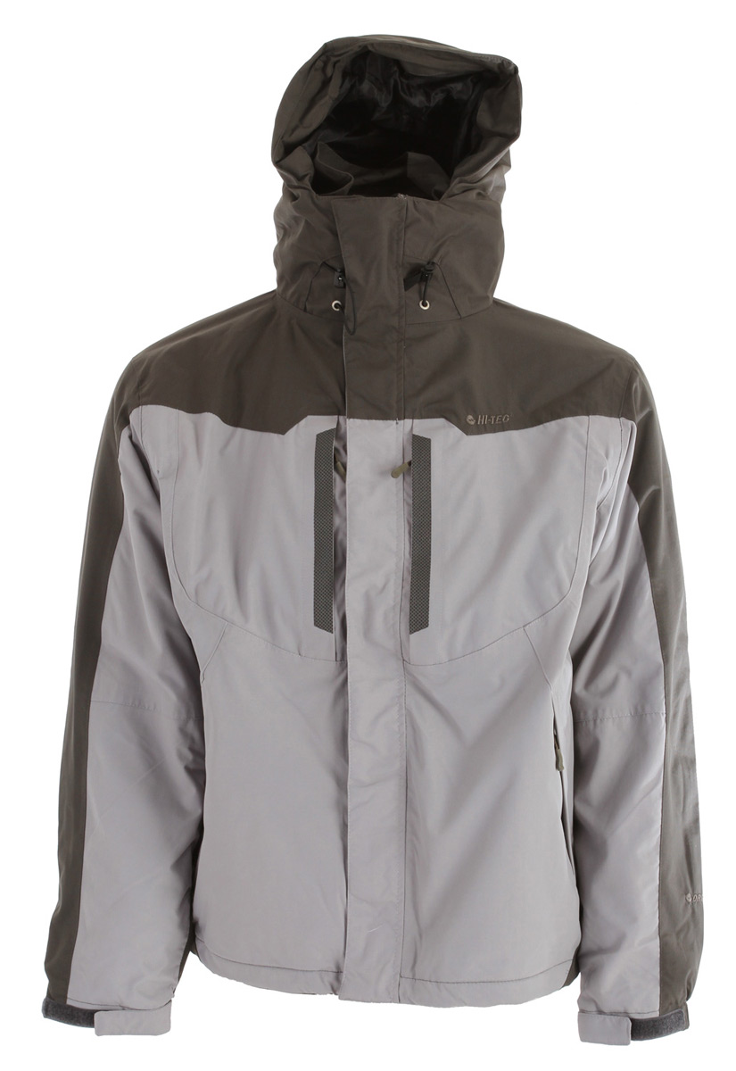 Key Features of the Hitec Granite Peak Parka Jacket: 3,000mm Waterproof Dri-Tec 3,000gm Breathability Fully seam sealed Tuck away storm hood with volume adjustment 2 Handwarmer pockets with brushed tricot lining 2 Exterior chest pockets Interior security/tune pocket with headset cord loop Single hand drawcord adjustable hem Shell: 320d 100% Nylon Ottoman Lining: 100% Polyester Wicking Mesh - $119.95
