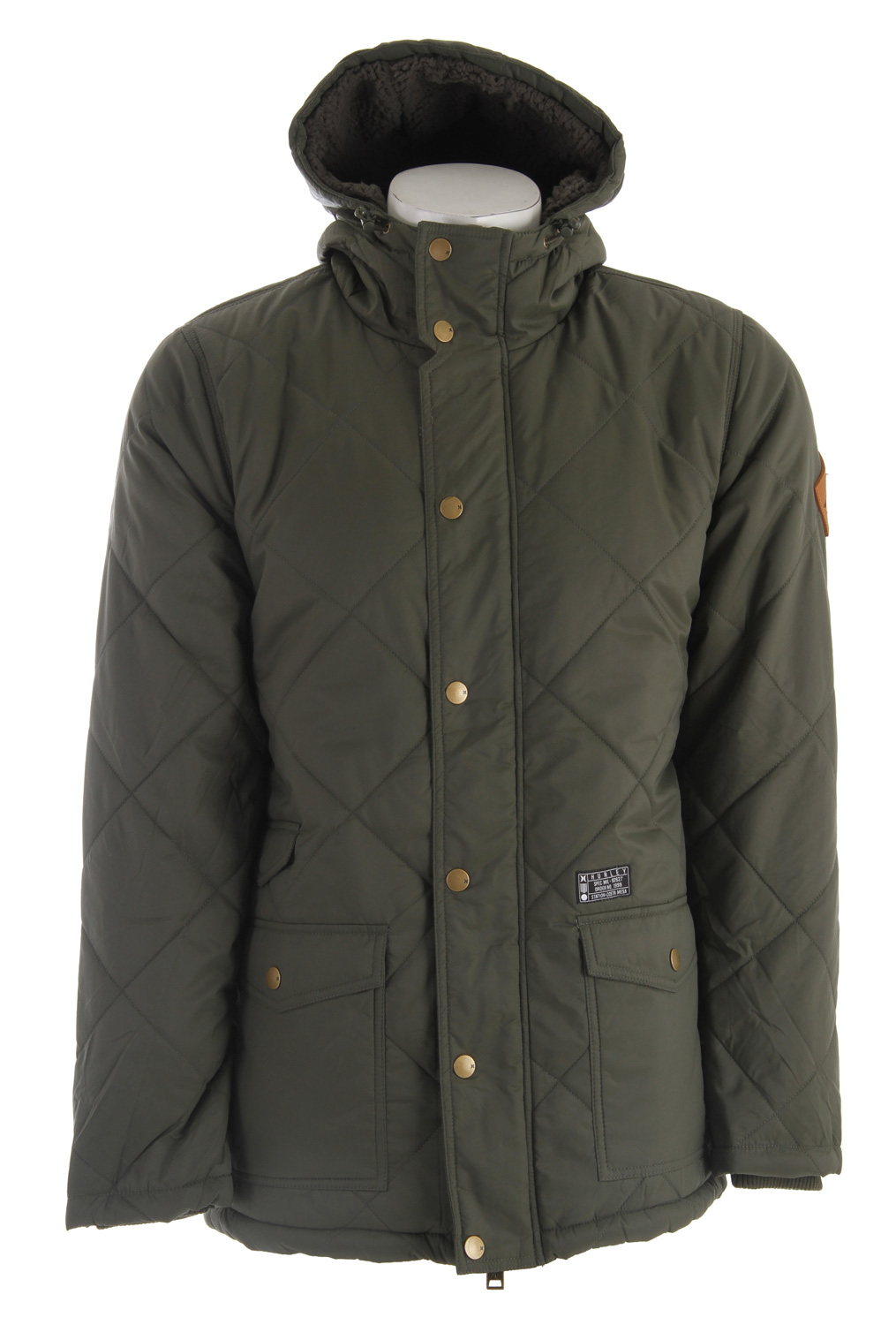 Surf Hurley Disorder Jacket Dark Forest - $54.95