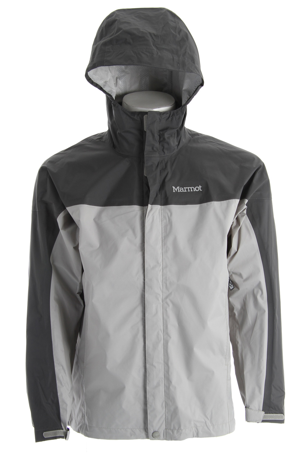 Key Features of the Marmot Precip Jacket: PreCip® Dry Touch Technology, Waterproof/Breathable 100% Seam Taped Full Visibility Roll-Up Hood with Integral Collar PitZips™ Pack Pockets™ Double Storm Flap Over Zipper with Snap/Velcro® Closure Elastic Draw Cord Hem DriClime® Lined Chin Guard Angel-Wing Movement™ Weight 0lbs 13.1oz (371.4g) Materials PreCip® 2.5 100% Nylon Ripstop 2.7oz/yd Center Back Length 29in Fit Regular Fit - $69.95