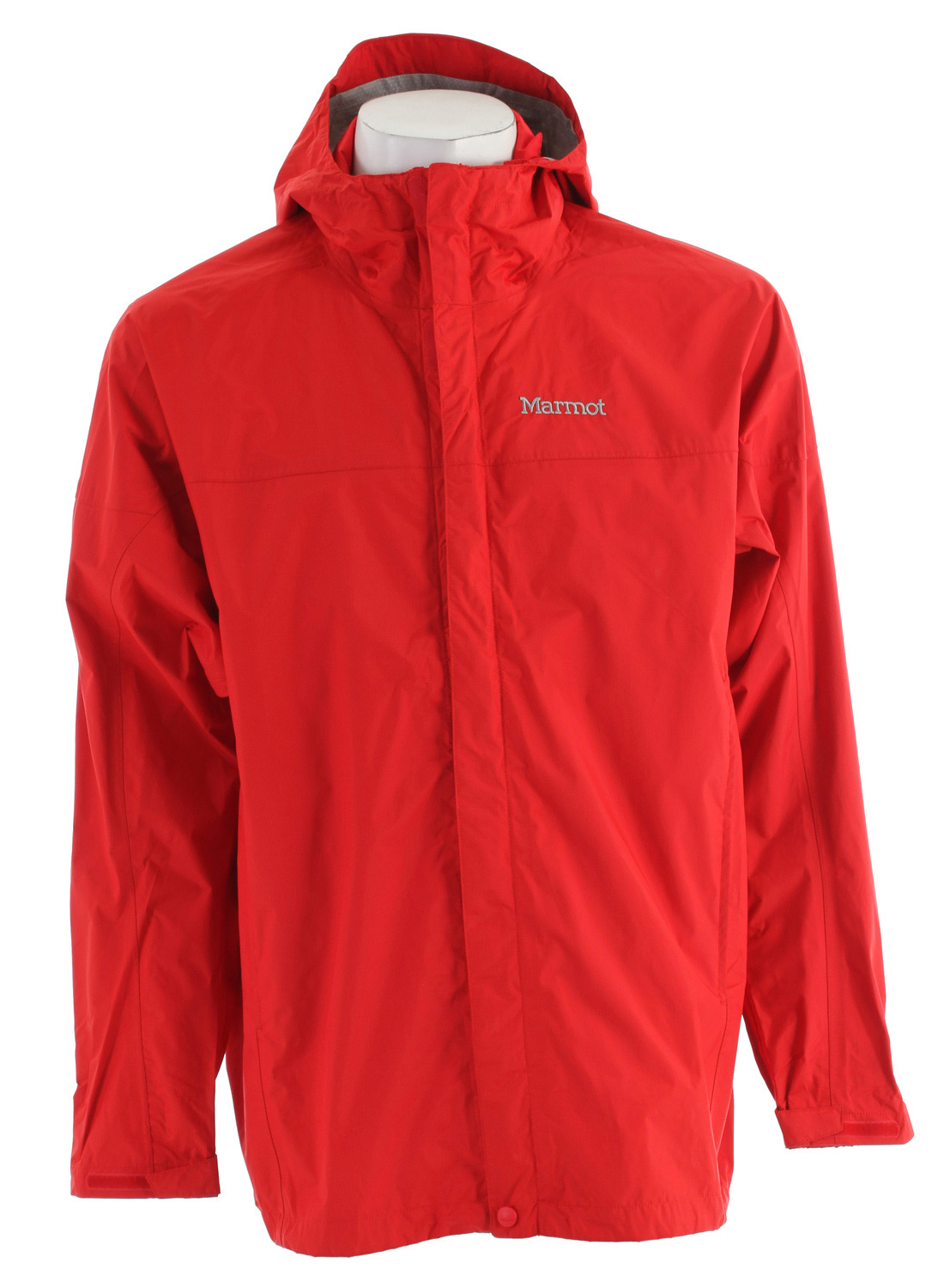 "Key Features of the Marmot PreCip Jacket: Weight 0lb 13.1oz (371g) Materials PreCip 2.5 100% Nylon Ripstop 2.7oz/yd PreCip Dry Touch Technology, Waterproof/Breathable 100% Seam Taped Full Visibility Roll-Up Hood with Integral Collar PitZips Pack Pockets Double Storm Flap Over Zipper with Snap/Velcro Closure Elastic Draw Cord Hem DriClime Lined Chin Guard Angel-Wing Movement 29"" Center Back Length for Size Medium - $69.95"