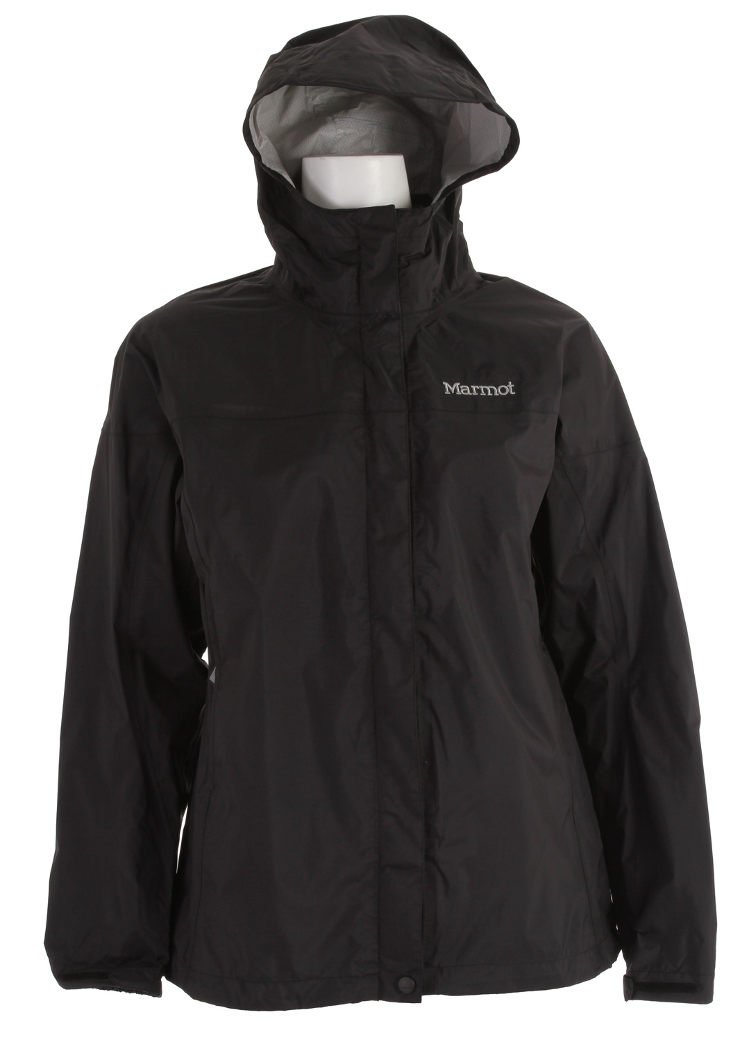 "Key Features of the Marmot PreCip Jacket: Weight 0lb 11.4oz (323g) Materials PreCip 2.5 100% Nylon Ripstop 2.7oz/yd PreCip Dry Touch Technology, Waterproof/Breathable 100% Seam Taped Full Visibility Roll-Up Hood with Integral Collar PitZips Pack Pockets Double Storm Flap Over Zipper with Snap/Velcro Closure Elastic Draw Cord Hem DriClime Lined Chin Guard Angel-Wing Movement 27"" Center Back Length for Size Medium - $73.95"