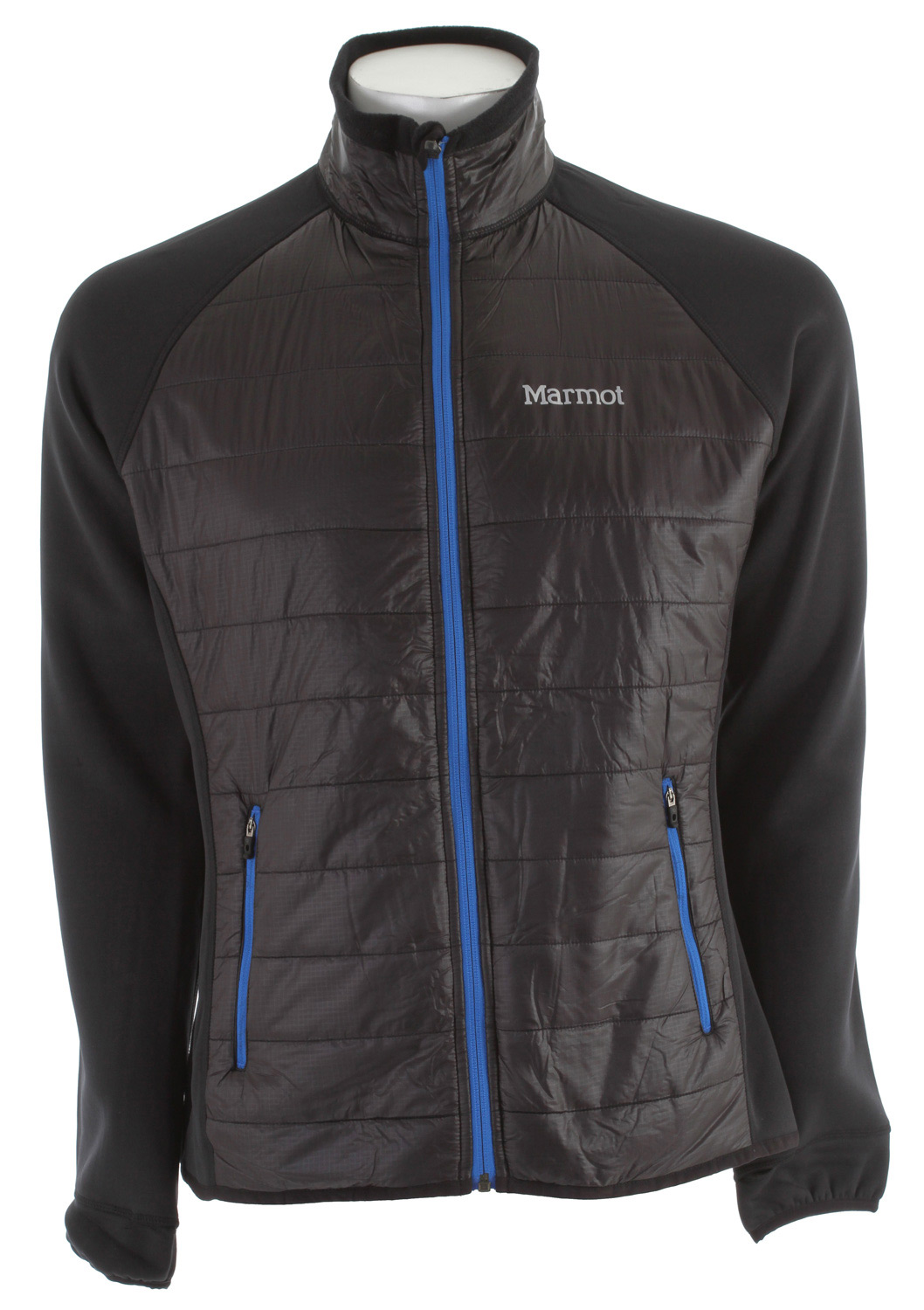"Key Features of the Marmot Variant Insulated Jacket: Weight 0lb 12.8oz (363g) Materials PolartecPower Stretch 88% Polyester, 12% Elastane 6.8 oz/yd "" 100% Nylon Ripstop DWR 0.8 oz/yd Insulation Thermal R Eco Full Zip Jacket with Thermal R Eco Insulation at Front Body Polartec Power Stretch Panels at Side Torso, Sleeves and Back Thumbholes Lightweight Stretch Binding at Cuffs and Bottom Hem Front Hand Zip Pockets, Reflective Logos Athletic Fit 27 1/4"" Center Back Length for Size Medium - $104.95"