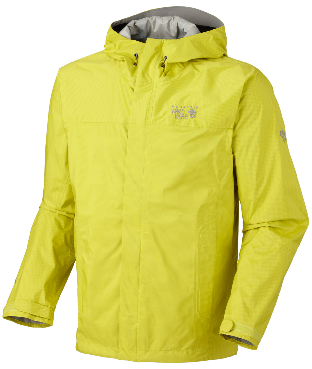 "Key Features of the Mountain Hardwear Epic Jacket: Attached hood with extra-beefy brim for added protection against the elements Pit zips Micro-Chamois™-lined chin guard eliminates zipper chafe Dual hem drawcords for quick fit adjustments Adjustable Velcro® cuffs for quick fit adjustments AVG. WEIGHT: 14 oz; 395 g CENTER BACK LENGTH: 29""; 74 cm FABRIC: body: Epic 2.5L (100% nylon) - $69.95"