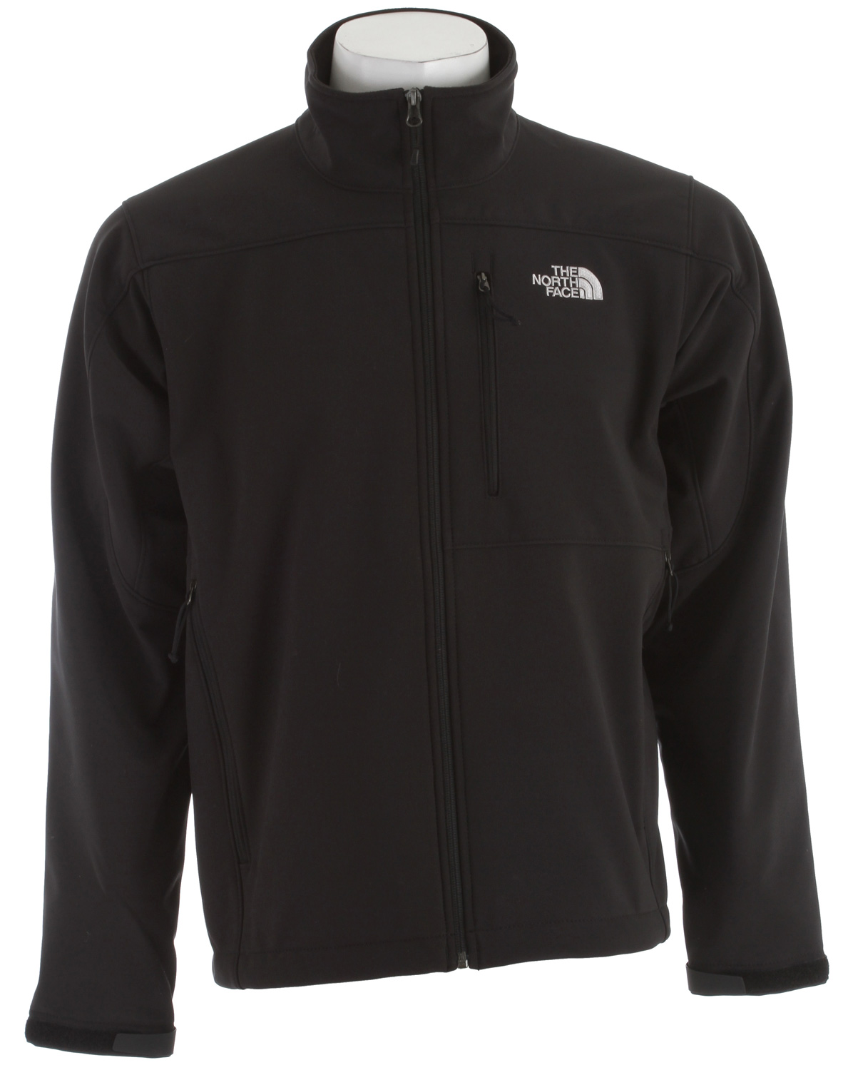 "Most versatile and widely worn soft shell has enhanced windproof features and a stretchy, comfortable fit; ideal for multiple activities.Key Features of The North Face Apex Bionic Jacket: Average Weight: 650g (22.93oz) Center back: 28"" Fabric: 90D 351g/m2 (10.3 oz/yd2) Plain weave polyester TNF Apex ClimateBlock with Fleece backer TNF™Apex ClimateBlock 100%windproof fabric Fleece backer Napoleon chest pocket Two secure-zip hand pockets Velcro® adjustable cuffs with molded cuff tabs Hem cinch-cord adjustment in pockets - $148.95"