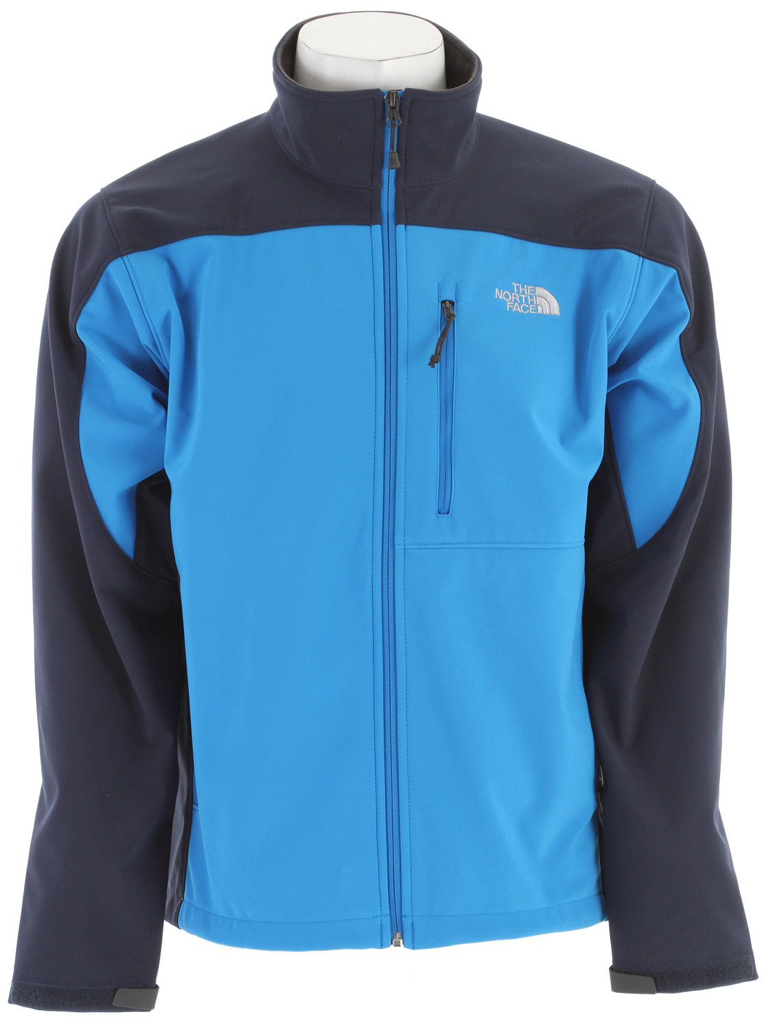 The North Face most versatile and widely worn soft shell has enhanced windproof features and a stretchy, comfortable fit; ideal for multiple activities.Key Features of The North Face Apex Bionic Jacket: Standard fit TNF Apex ClimateBlock fabric wind permeability rated at 0 CFM Fleece backer Napoleon chest pocket Two hand pockets Velcro adjustable cuffs with molded cuff tabs Hem cinch-cord adjustment in pockets - $103.95