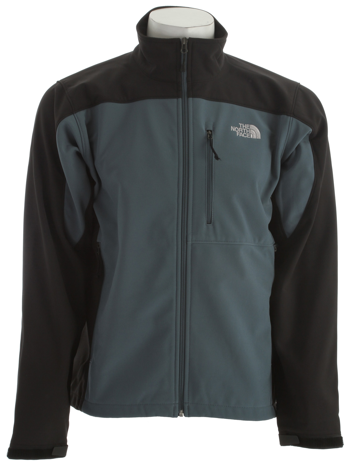 The North Face most versatile and widely worn soft shell has enhanced windproof features and a stretchy, comfortable fit; ideal for multiple activities.Key Features of the The North Face Apex Bionic Jacket: Standard fit TNF Apex ClimateBlock fabric wind permeability rated at 0 CFM Fleece backer Napoleon chest pocket Two hand pockets Velcro adjustable cuffs with molded cuff tabs Hem cinch-cord adjustment in pockets - $103.95