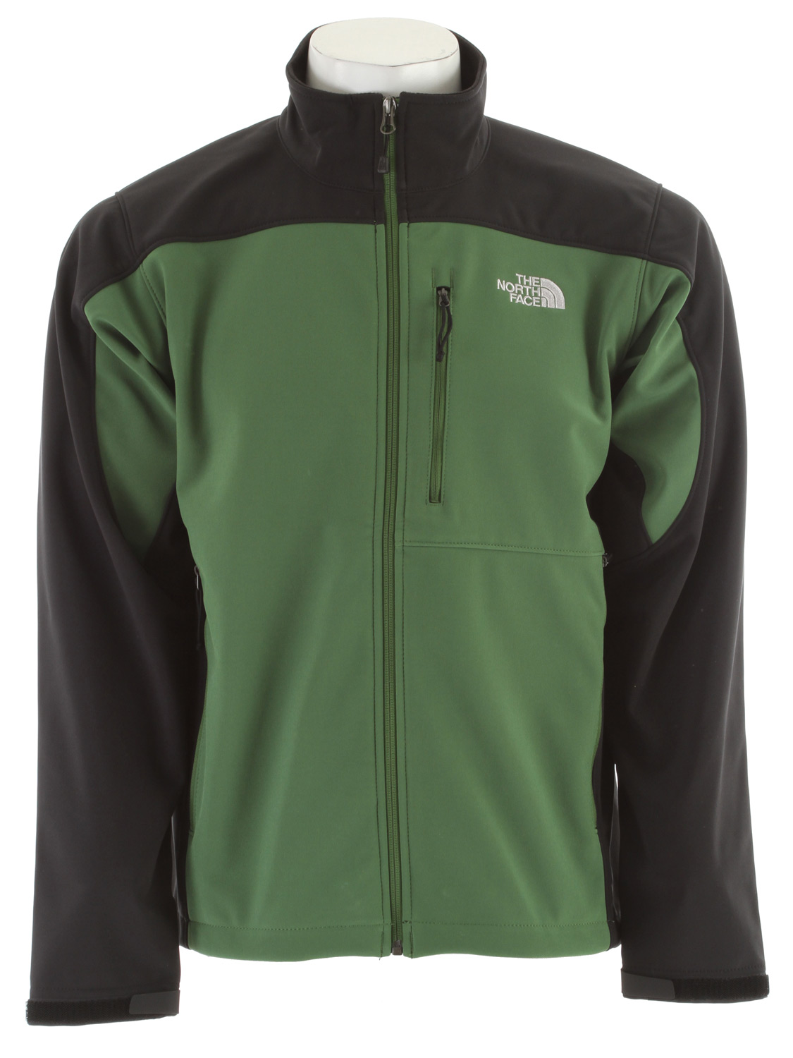 "Four-season, versatile, windproof soft shell with a stretchy, comfortable fit ideal for multiple activities. Key Features of The North Face Apex Bionic Jacket: Fabric: 90D 351 g/m2 (10.3 oz/yd2) plain weave polyester TNF Apex ClimateBlock Avg Weight: 658 g (23.21 oz) Center Back: 28"" Most versatile and widely worn soft shell has enhanced windproof features and a stretchy, comfortable fit; ideal for multiple activities. Standard fit TNF Apex ClimateBlock fabric wind permeability rated at 0 CFM Fleece backer Napoleon chest pocket Two hand pockets Velcro adjustable cuffs with molded cuff tabs Hem cinch-cord adjustment in pockets *3XL only available in Asphalt Grey, Deep Water Blue and TNF Black - $111.95"