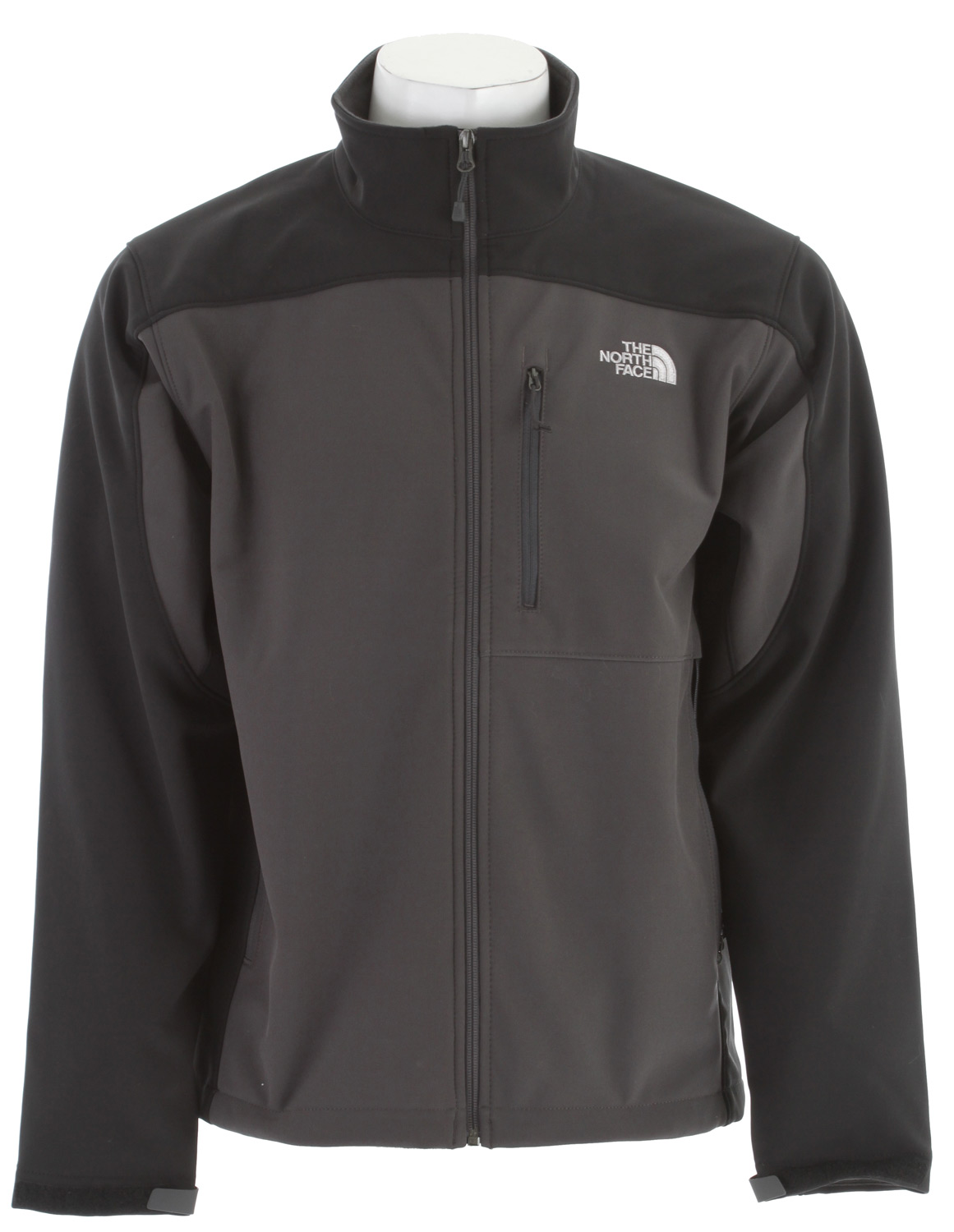The North Face most versatile and widely worn soft shell has enhanced windproof features and a stretchy, comfortable fit; ideal for multiple activities.Key Features of The North Face Apex Bionic Jacket: Standard fit TNF® Apex ClimateBlock fabric wind permeability rated at 0 CFM Fleece backer Napoleon chest pocket Two hand pockets Velcro® adjustable cuffs with molded cuff tabs Hem cinch-cord adjustment in pockets - $149.00