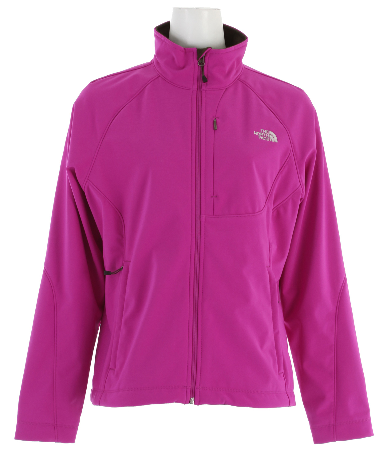 Versatile and widely worn soft shell has enhanced windproof features and a stretchy, comfortable fit; ideal for multiple activities.Key Features of The North Face Apex Bionic Jacket: Standard fit TNF® Apex ClimateBlock fabric wind permeability rated at 0 CFM Fleece backer Napoleon chest pocket Two hand pockets Internal stretch comfort cuffs - $103.95