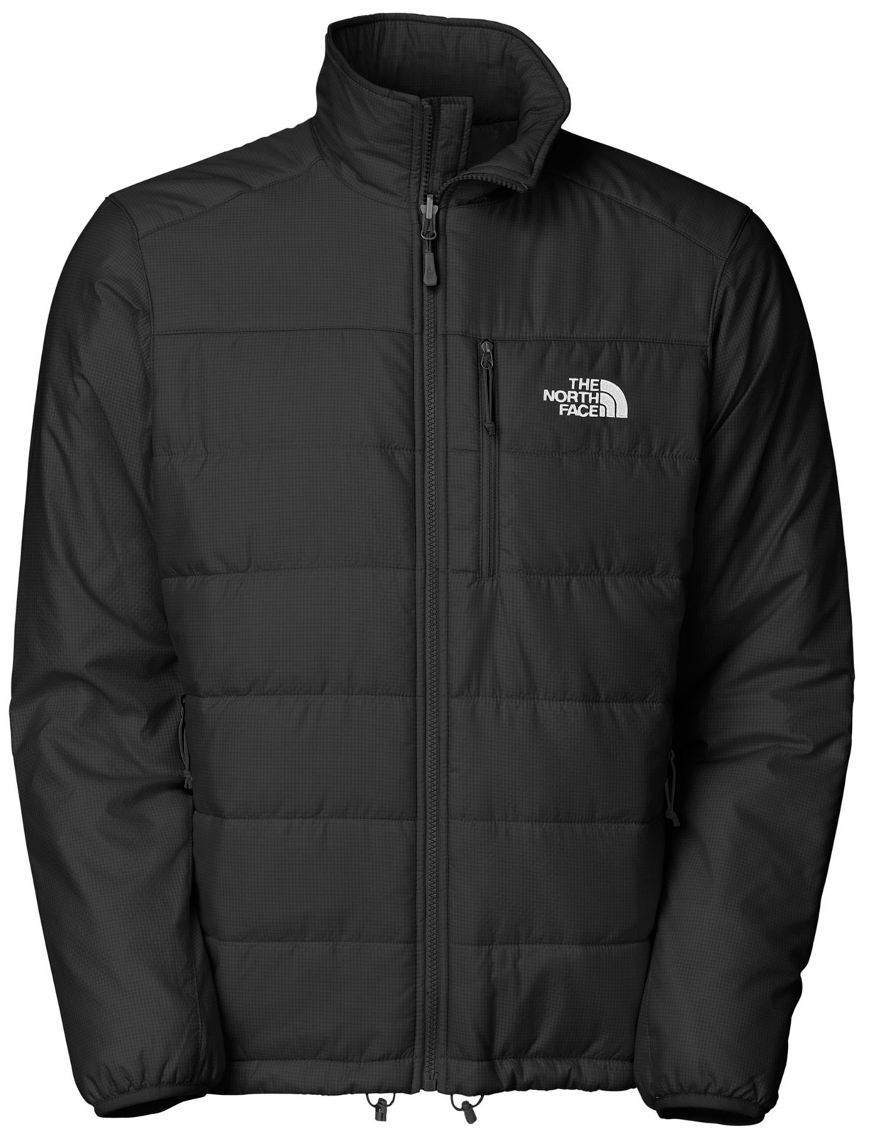 "Key Features of The North Face Redpoint Jacket: Avg Weight: TBD Center Back: 28"" Fabric: body: 30D 54 g/m2 (1.566 oz/yd2) 100% nylon insulation: PrimaLoft Eco 130 g TBD. Napoleon chest pocket Two hand pockets Stows in hand pocket Bound cuffs Hem cinch-cord Zip-in compatible - $102.95"
