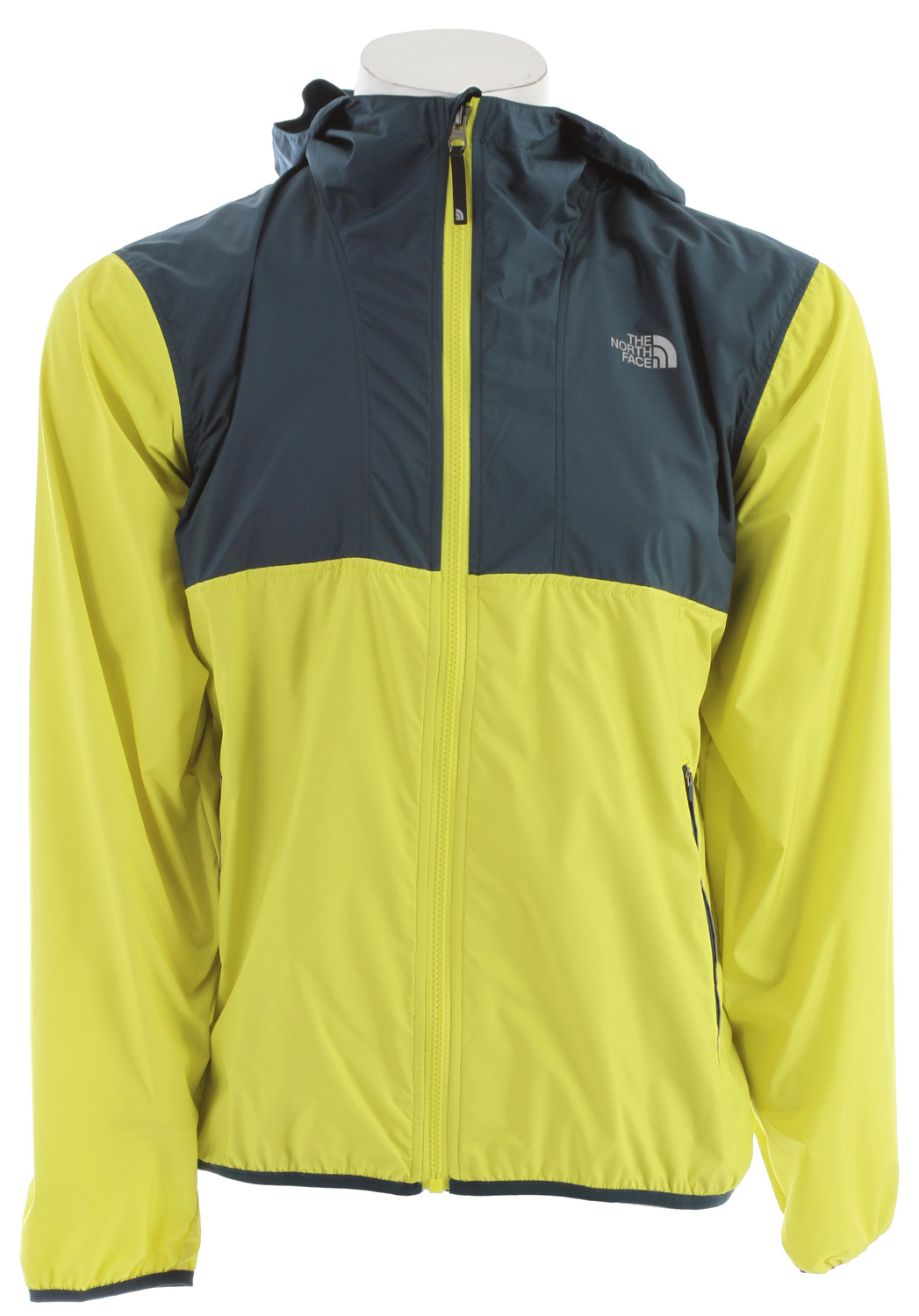 "MTB A lightweight, wind-resistant jacket with bike-friendly features and reflective trim to keep you comfortable and visible during your bike commute. Key Features of The North Face Ripley Jacket: Wind resistant Helmet-compatible fixed hood Zip hand pockets Single back zip security pocket Drop tail Media port Reflective elements Avg weight: 250 g (8.82 oz) Center back: 29.75"" Fabric: 50D 76 g/m² (2.24 oz/yd²) 100% recycled polyester taffeta with DWR - $68.95"