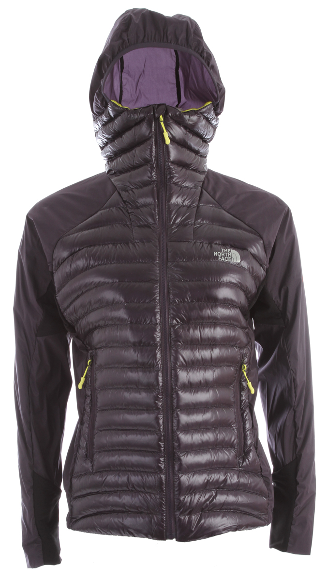 "A featherweight down jacket that offers maximum warmth with minimum weight. Key Features of the The North Face Verto Micro Jacket: 800 fill goose down offers superior warmth yet remains extremely compressible Elastic-bound hood with extra insulation in the neck vastly extends comfort range Sleek hem and cuff construction reduces bulk and improves fit Stuffs into alpine-style pocket for easy use and stowage avg weight/9.1 oz (255 g) Center back: 27.5"" Fabric: body: 10D 25 g/m2 Pertex Quantum GL;100% nylon micro-ripstop; 53 g/m2 86% nylon, 14% elastane four-way stretch woven; 215 g/m2 59% nylon, 25% polyester, 16% elastane double knit with FlashDry insulation: 800 fill goose down - $173.95"