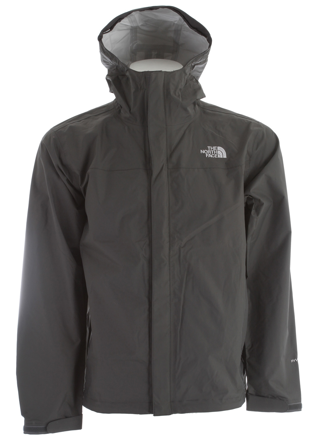 Classic, year-round rainwear, now constructed with HyVent 2.5L EC fabric, an eco-conscious material; our most popular waterproof, breathable jacket. Key Features of The North Face Venture Jacket: Standard fit Waterproof, breathable, seam sealed Attached, fully adjustable hood with hidden drawcord system Center front zip and Velcro® closure Brushed chin guard lining Pit-zips Two hand pockets Stowable in hand pocket Self fabric adjustable Velcro® cuff tabs Hem cinch-cord / fabric: 40D 85 g/m (2.5 oz/yd ) 100% nylon ripstop HyVent 2.5L EC (50% non-petroleum membrane) - $68.95