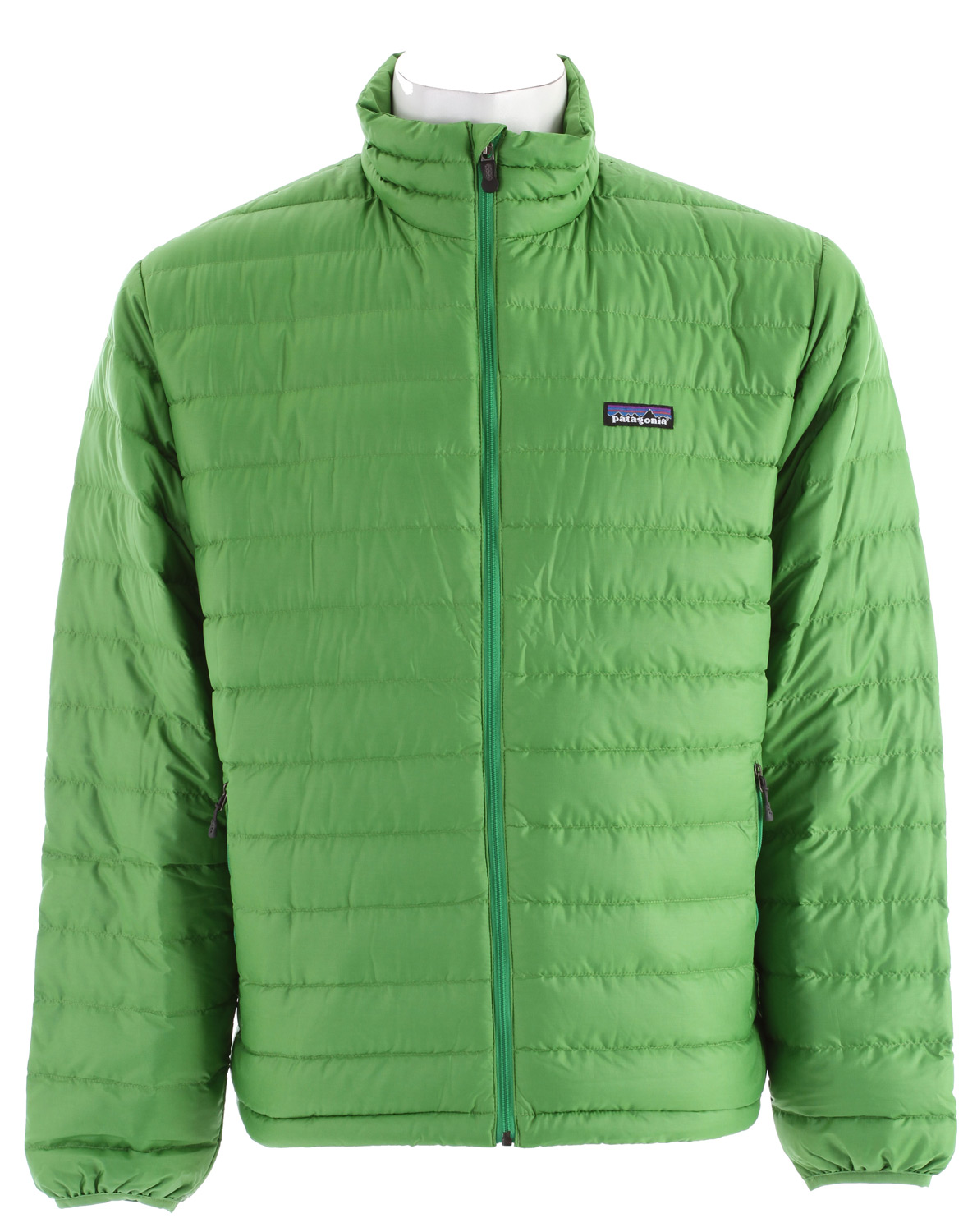 Lightweight and windproof, the Patagonia Down Sweater Jacket has a 100% recycled polyester shell and is insulated with warm, highly compressible 800-fill-power goose down. It can be worn as a midlayer or outerwear in cold climatesKey Features of the Patagonia Down Sweater Jacket: Lightweight, windproof and water-resistant shell with a high tear-strength and a Deluge DWR (durable water repellent) finish Quilted construction stabilizes premium European 800-fill-power goose down Nylon-bound elastic cuffs and drawcord hem seal in warmth Pockets: Two zippered handwarmers; one interior zippered stretch mesh, which doubles as a stuff sack and has a carabiner clip-in loop Regular fit (12.1 oz) 343 g Fabric: Shell and lining: 1.4-oz 22-denier polyester ripstop with a Deluge DWR finish. Insulation: 800-fill-power premium European goose down - $139.95