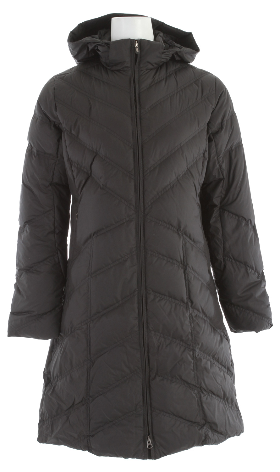With a 100% recycled polyester shell, our knee-length down coat is for winter's coldest days and insulated with 600-fill-power premium European goose downKey Features of the Patagonia Down With It Parka: 600-fill-power premium European goose down Removable hood adjusts with two drawcords 2-way front zipper with wind flap Zippered on-seam handwarmer pockets; interior zippered chest pocket Unquilted side panels for a sleek silhouette Knee length Slim fit (27.7 oz) 785 g fabric: 2.3-oz 100% recycled polyester with a Deluge DWR (durable water repellent) finish. Insulation: 600-fill-power premium European goose down - $194.95