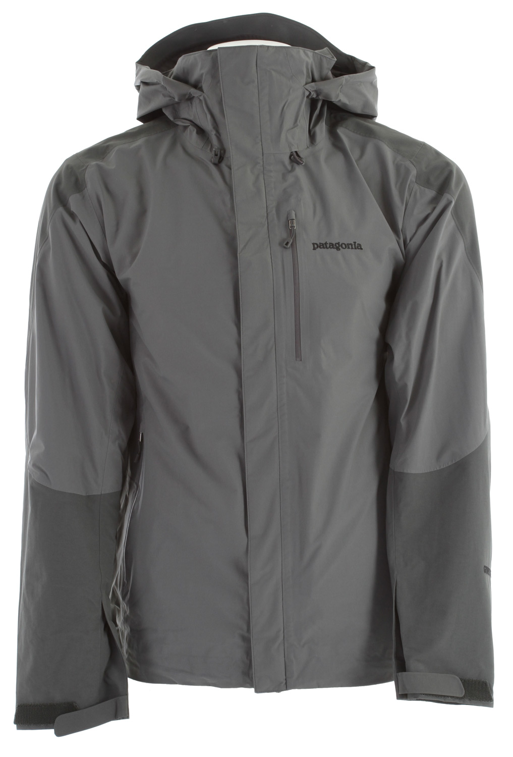 The Piolet Jacket is for the outdoor enthusiast who does it all. The shell jacket, engineered with GORE-TEX Performance Shell uses the most durable nylon face fabrics available. The 2-layer construction uses a GORE-TEX membrane, which is bonded to the outer material and protected on the inside by a separate lining for better wear, greater comfort, and waterproof/breathable protectionKey Features of the Patagonia Piolet Jacket: 2-layer nylon GORE-TEX Performance Shell Helmet-compatible, 2-way-adjustable hood with laminated visor for optimal visibility in bad conditions Touch Point System embeds cord locks in the hood and hem for quick adjustments to seal out rain and snow (patented) Modified Y-Joint sleeve construction for overhead mobility without jacket lifting Pockets: Harness- and pack-compatible pocket configuration and pit zips feature Slim Zip installation with watertight, coated zippers for reduced zipper bulk and weight; internal zippered security pocket Cuffs have low-profile closure with pleated gusset Regular fit (22.3 oz) 632 g Fabric: Shell: 2.7-oz 40-denier GORE-TEX Performance Shell 100% nylon. Reinforcements: 4.3-oz 70-denier GORE-TEX Performance Shell 100% nylon - $208.95