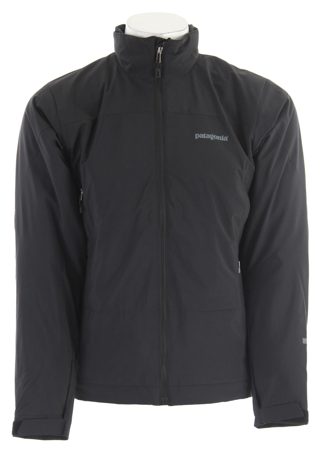 A lightweight low-bulkinsulated jacket that combines a supple WINDSTOPPER the Patagonia Solar Wind Jacket has an Insulated Shell exterior with 60-g Primaloft Eco insulation for superior warmth and total wind protectionKey Features of the Patagonia Solar Wind Jacket: WINDSTOPPER Insulated Shell fabric combined with Primaloft insulation is warm, light, compressible and highly weather-resistant Interior quilting stabilizes insulation Pockets: Harness- and pack-compatible chest pocket configuration with reverse-coil zippers; internal zippered security pocket Touch Point System embeds cord locks in the hood and hem for quick adjustments to seal out rain and snow (patented) Cuffs have a low-profile closure and pleated gusset Regular fit (17 oz) 482 g Fabric: Shell: 2.8-oz WINDSTOPPER 100% nylon. Insulation: 60-g PrimaLoft Eco polyester. Lining: 1.4-oz 20-denier 100% polyester ripstop - $175.95
