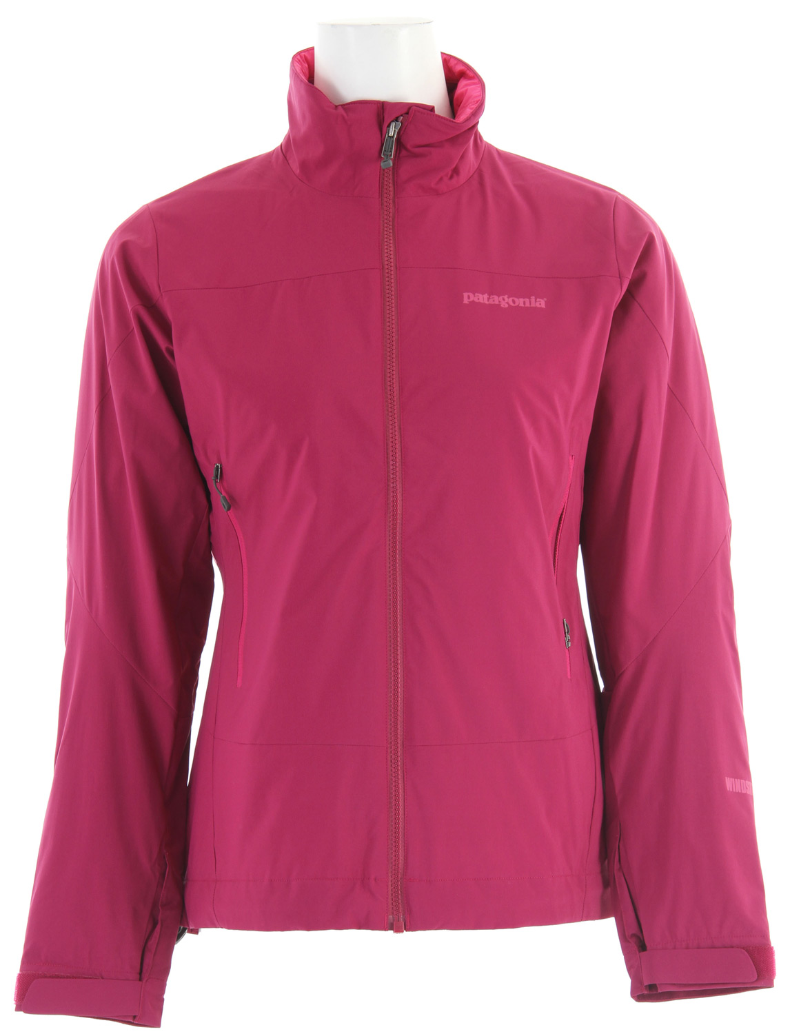 A lightweight insulated jacket with low bulk, the Patagonia Solar Wind Jacket combines a nylon WINDSTOPPERA(R) insulated Shell exterior with 60g PrimaLoft ECO insulation for total warmth and wind protection.Key Features of the Patagonia Solar Wind Jacket: WINDSTOPPER insulated Shell fabric combined with PrimaLoft Eco insulation is warm, light, compressible and highly weather-resistant interior quilting stabilizes insulation Pockets: Harness- and pack-compatible chest pocket configuration with reverse-coil zippers; internal zippered security pocket Touch Point System embeds cord locks in the hood and hem for quick adjustments to seal out rain and snow (patented) Cuffs with low-profile closure and pleated gusset Regular fit (15.5 oz) 439g Fabric: Shell: 2.8 oz WINDSTOPPER 100% nylon. Insulation: 60g Primaloft ECO. Lining: 1.4 oz 20-denier 100% polyester ripstop - $161.95