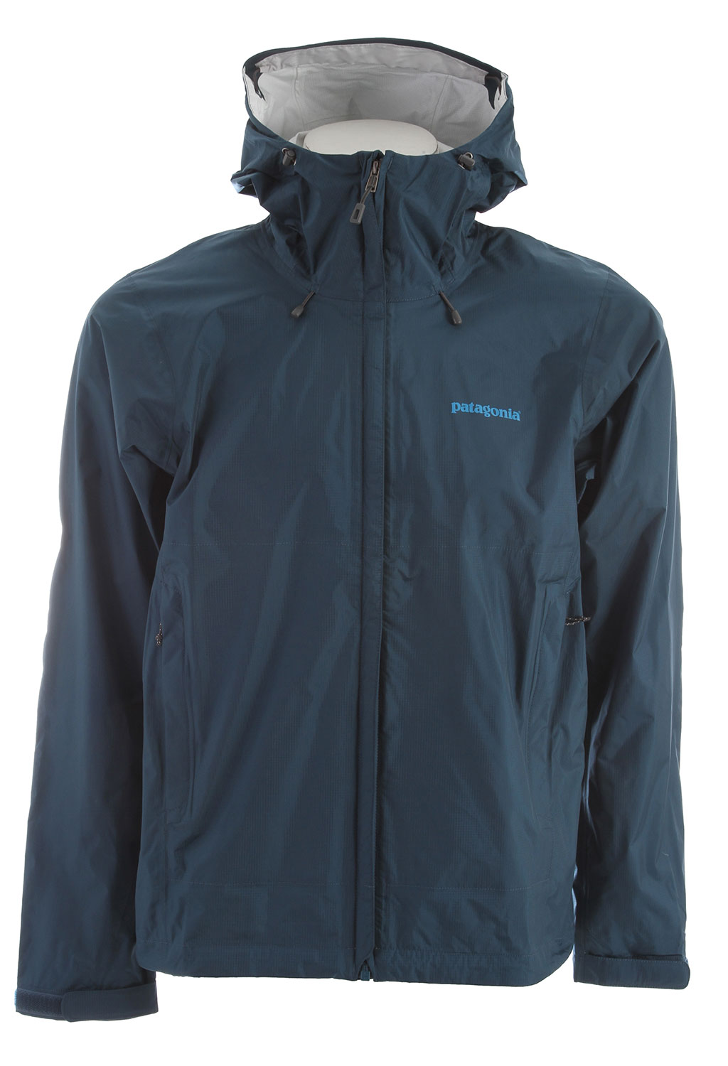 Pared-down and packable, the Torrentshell is an H2No Performance Standard 2.5-layer nylon waterproof/breathable hard shell for seriously wet weather FABRIC: H2No Performance Standard shell: 2.5-layer, 2.6-oz 50-denier 100% nylon ripstop with a waterproof/breathable barrier and a Deluge DWR (durable water repellent) finishKey Features of the Patagonia Torrentshell Jacket: Regular fit H2No Performance Standard shell with waterproof/breathable 2.5-layer nylon ripstop repels moisture 2-way-adjustable hood with a laminated visor rolls down and stows Microfleece-lined neck provides comfort and protects waterproof/breathable barrier Center-front zipper features minimal welt exterior and interior storm flaps that create a zipper-garage chin guard Pockets: two zippered handwarmers and venting pit zips, all with welted exterior storm flaps and DWR-treated zippers Self-fabric hook-and-loop cuff closures and adjustable drawcord hem seal out moisture Stows in self-stuff handwarmer pocket with carabineer clip-in loop Re-engineered pattern for improved fit - $96.95