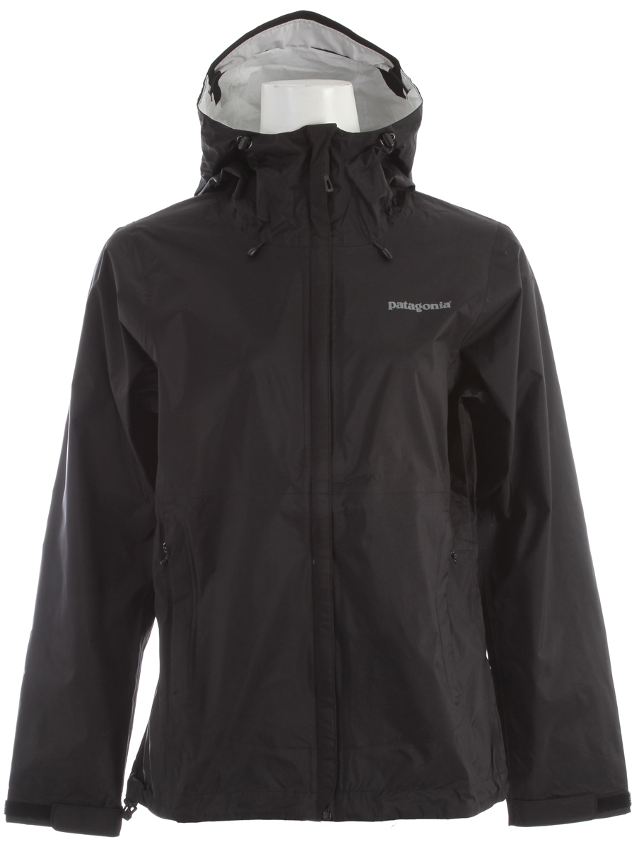 Pared-down and packable, the Torrentshell is an H2No Performance Standard 2.5-layer nylon waterproof/breathable hard shell for seriously wet weather FABRIC: H2No Performance Standard shell: 2.5-layer, 2.6-oz 50-denier 100% nylon ripstop with a waterproof/breathable barrier and a Deluge DWR (durable water repellent) finishKey Features of the Patagonia Torrentshell Jacket: Regular fit H2No Performance Standard shell with waterproof/breathable 2.5-layer nylon ripstop repels moisture 2-way-adjustable hood with a laminated visor rolls down and stows Microfleece-lined neck provides comfort and protects waterproof/breathable barrier Center-front zipper features minimal welt exterior and interior storm flaps that create a zipper-garage chin guard Pockets: two zippered handwarmers and venting pit zips, all with welted exterior storm flap and DWR-treated zippers Self-fabric hook-and-loop cuff closures and adjustable drawcord hem seal out moisture Stows in self-stuff handwarmer pocket with carabineer clip-in loop Re-engineered pattern for improved fit - $129.00
