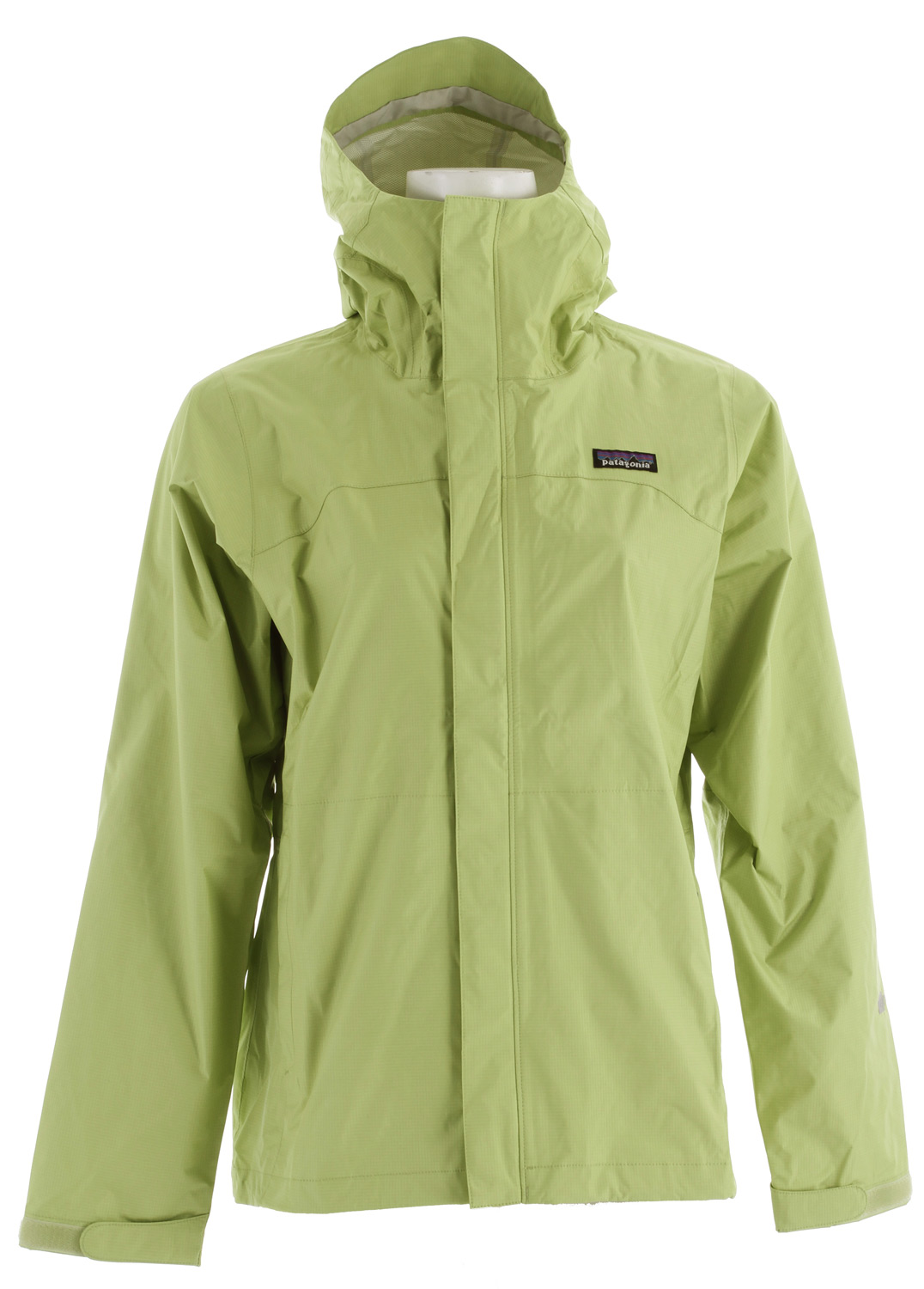 Pared-down and packable, the Torrentshell is a no-frills, 2.5-layer hard shell with a waterproof/breathable H2No barrier for seriously wet weather. fabric: 2.5-layer, 2.6-oz 50-denier 100% nylon ripstop with a waterproof/breathable H2No barrier and a Deluge DWR (durable water repellent) finishKey Features of the Patagonia Torrentshell Jacket: 2.5-layer nylon ripstop shell with a waterproof/breathable H2No barrier and Deluge DWR finish 2-way-adjustable hood with a laminated visor rolls down and stows Microfleece-lined neck provides comfort and protects waterproof/breathable barrier Center-front zipper has exterior and interior storm flaps to keep water out; pit zips have storm flaps and Deluge DWR-treated zippers Self-fabric hook-and-loop cuff closures Pockets: Two handwarmers, one internal mesh drop-in Drawcord hem; packs into zippered self-storage pocket - $89.95