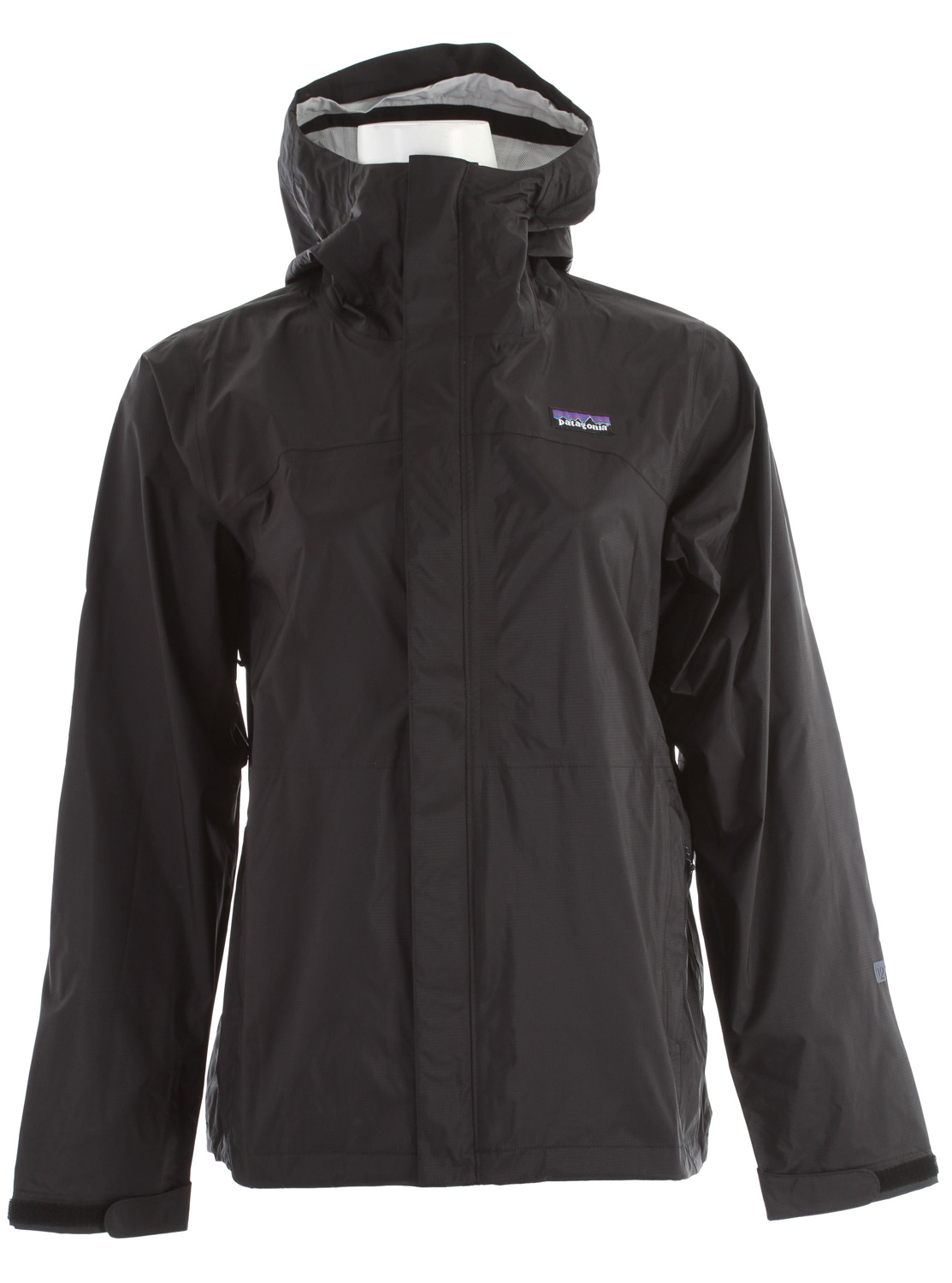 Camp and Hike The Patagonia Torrentshell durable rain jacket, made with 2.5-layer nylon ripstop and a waterproof/breathable H2no barrier is built for trekking and hiking in wet conditionsKey Features of the Patagonia Torrentshell Jacket: 2.5-layer nylon ripstop shell with a waterproof/breathable H2no barrier and Deluge DWR (durable water repellent) finish 2-way-adjustable hood with laminated visor rolls down and stows Microfleece-lined neck for comfort and enhanced protection of waterproof/breathable barrier Pockets: two handwarmers, one internal mesh drop-in; stows in hand pocket Center-front zip has exterior and interior storm flaps to keep water out; pit zips have storm flaps and Deluge DWR-treated zippers Self-fabric hook-and-loop cuff closures Regular fit (12.8 oz) 363 g fabric: 2.5-layer, 2.6-oz 50-denier 100% nylon ripstop with a waterproof/breathable H2no barrier and a Deluge DWR finish - $82.95