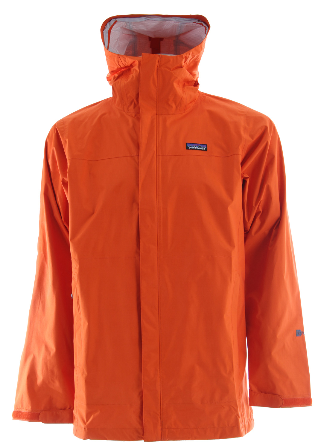 A full-coverage version of our popular Torrentshell, the stormproof Parka is made of a 2.5-layer waterproof/breathable H2No barrier and Deluge DWR (durable water repellent) finish. The features add comfort: a roll-down adjustable hood with laminated visor, a 2-way center front zipper and pit zips with storm flaps, self-fabric hook-and-loop cuff closures, a drawcord hem and microfleece-lined neck. The longer length fits easily over a sports coat. Pockets: two external handwarmers, one internal mesh drop-in and a zippered interior that the parka stuffs into.Key Features of the Patagonia Torrentshell Parka Jacket: 2.5-layer nylon ripstop shell with a waterproof/breathable H2No barrier and Deluge DWR (durable water repellent) finish 2-way-adjustable hood with laminated visor rolls down and stows Microfleece-lined neck for comfort and enhanced protection of waterproof/breathable barrier 2-way center-front zipper with exterior and interior storm flaps to keep water out; pit zips with storm flaps and Deluge DWR-treated zippers Pockets: Two handwarmers; one internal mesh drop-in; stows in left hand pocket Self-fabric hook-and-loop cuff closures Drawcord hem 2.5-layer, 2.6-oz 50-denier 100% nylon ripstop with a waterproof/breathable H2No barrier and a Deluge DWR (durable water repellent) finish 383 g (13.5 oz) Made in China. 2-layer H2No shell fabrics are completely waterproof, windproof and breathable. They utilize an internal mesh or a wicking, hanging fabric liner to protect the waterproof barrier making them very comfortable and warm, even against the skin. 2-layer shell fabrics are versatile alternatives when you don't need the lightest or most durable shell available. H2No Barrier is Patagonia's standard for 100% waterproof and breathable protection in our shell garments. H2No is created by adding a waterproof and breathable laminate or coating to a high performance protective fabric. This fabric package blocks wind and water on the outside while allowing water vapor generated by your body to escape - keeping you warm, dry and comfortable. Learn more - $82.95