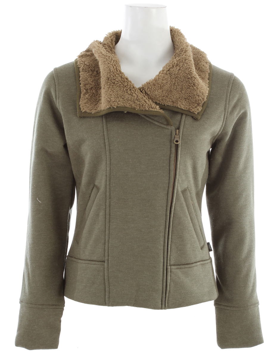 The comfort level given by plush and sherpa will make you want to wear the Grace every day. The casually vintage oversized collar will keep you looking good when you do.Key Features of the Prana Grace Jacket: Soft and plush heathered jersey jacket with bonded sherpa lining Oversized collar Front pockets 85% Acrylic / 15% Wool - $74.95