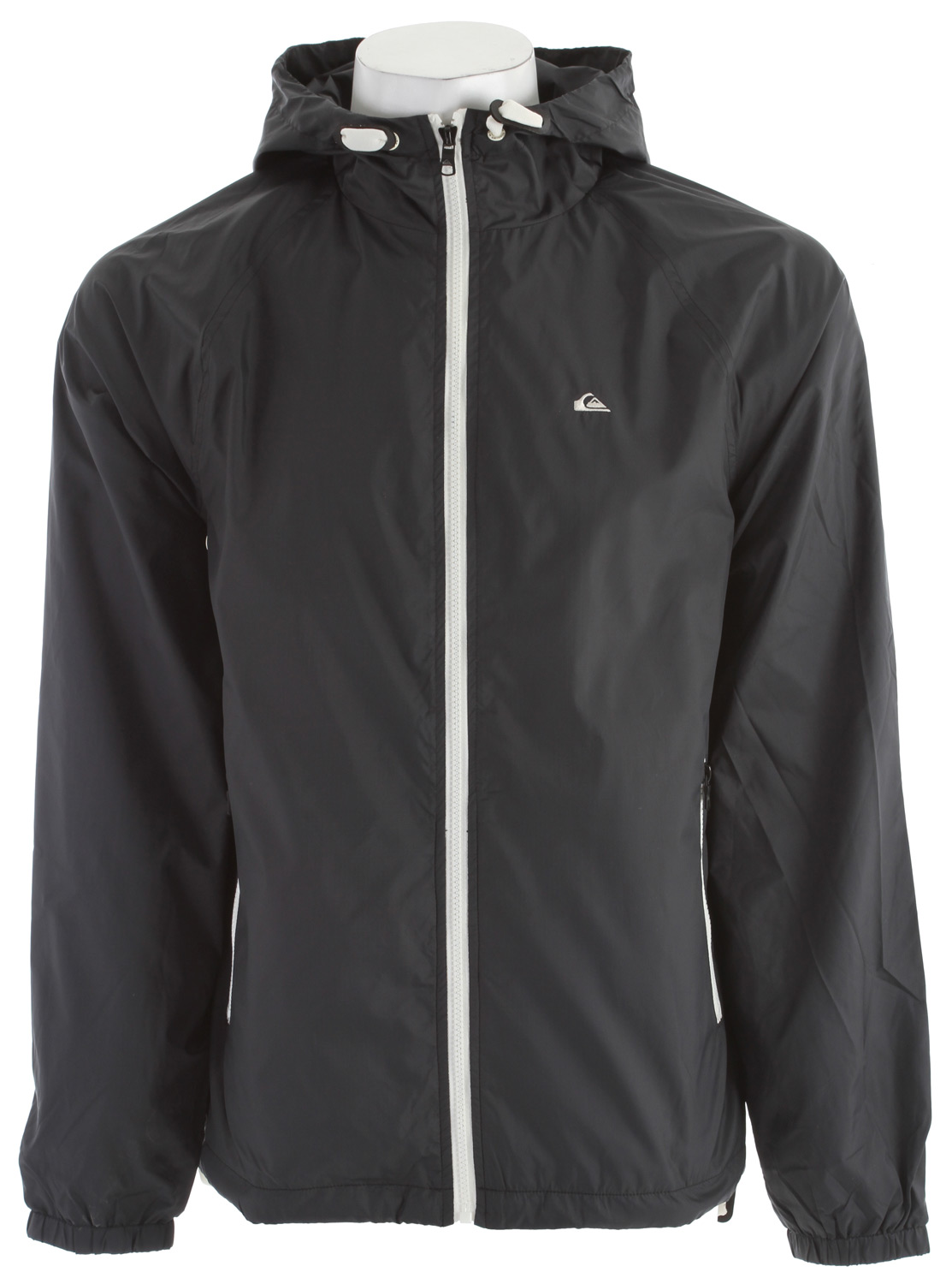Surf Key Features of the Quiksilver Spencer Jacket: 100% polyester Micro ripstop packable mesh lined windbreaker with self fabric hood lining Flat drawcord with toggle adjustments Elastic cuffs Drawcord adjustment at waist and mountain wave embroidery at left chest - $48.95