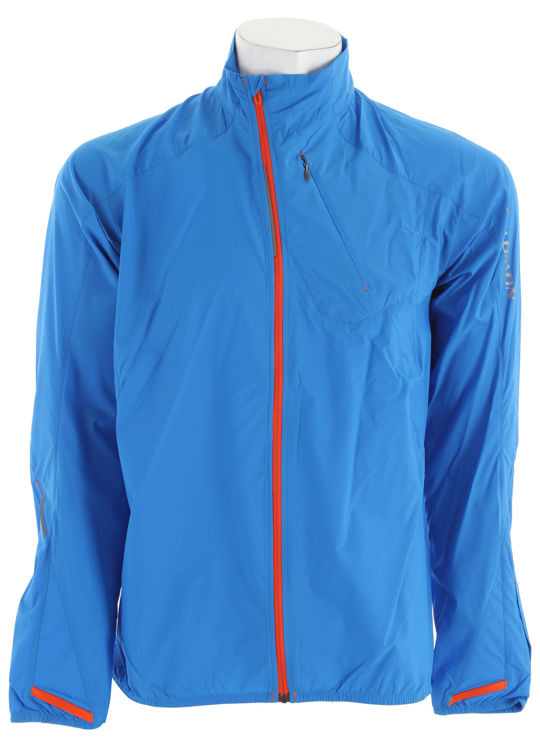 Camp and Hike Very light, very packable and with mesh pits to let excess heat and moisture escape. The Fast Wing protects from the wind and packs into a pocket that can be worn around the arm.Key Features of the Salomon Fast Wing III Windbreaker: Smart Skin™ Climawind™ light ribstop Actilite™ stretch mesh 1 chest pocket Reflective branding front & back thumb loop Wearable stow pocket with arm attachment Stash pocket Body: PA 100% Active fit 150g - $56.95