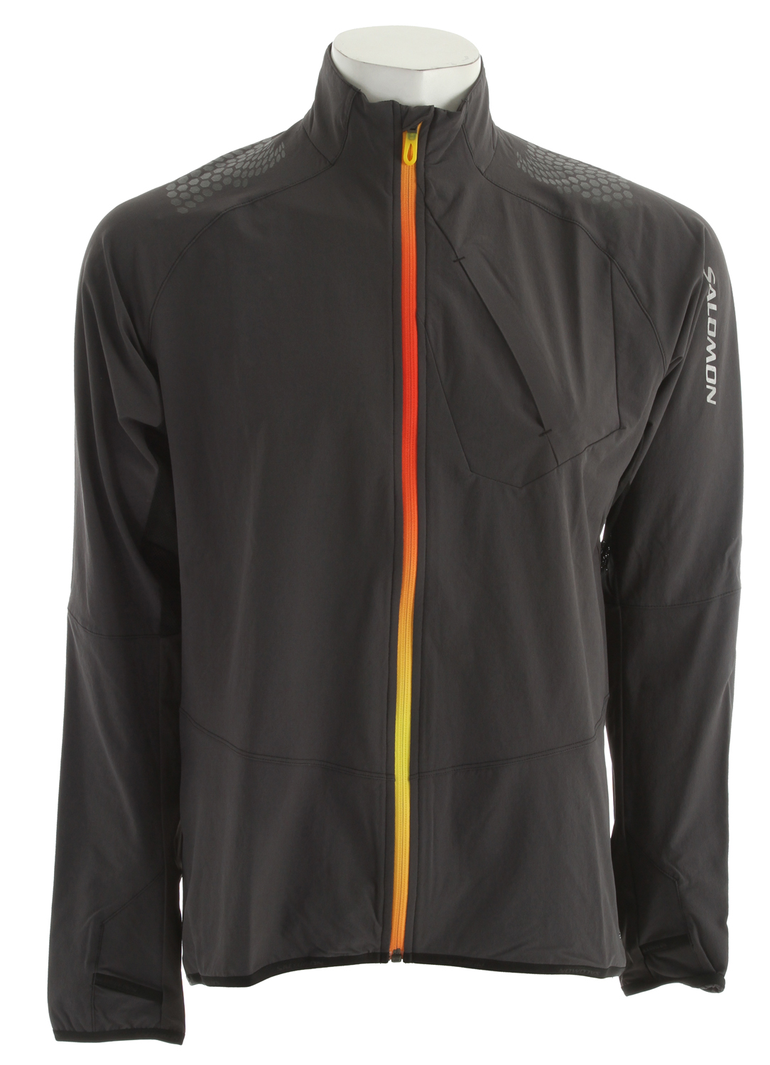 Camp and Hike This Smartskin jacket combines different SOFTSHELL fabrics. Wind protection on the front, lighter fabric in areas where movement and ventilation demand it. Mesh back panel provides maximum breathability under a pack. Great for highly aerobic activity in cold weather.Key Features of the Salomon XA Smartskin Softshell Jacket: Active fit 1 Chest pocket Stability print Thumb loop ClimaWind Stretch woven Actilite Stretch Mesh Actilite Stretch woven ACK INSERT: PES 91%, EL 9% BODY INSERT: PA 86%, EL 14% BODY: PA 91%, EL 9% - $87.95