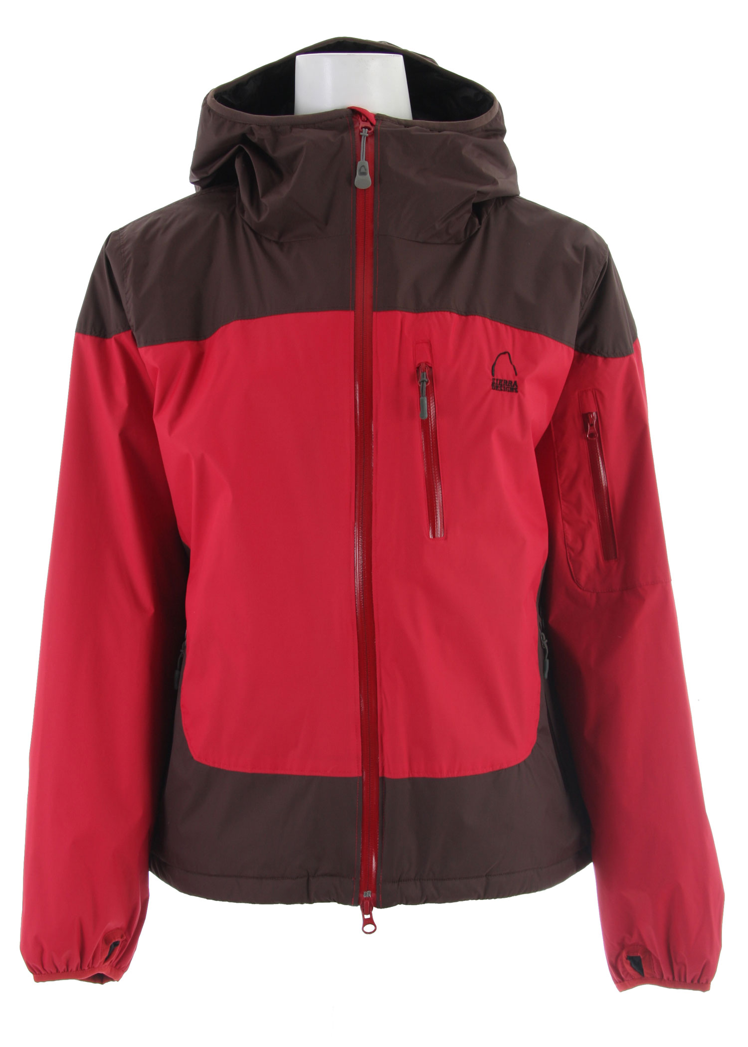 "The durable waterproof shell with a lightly insulated lining. Offering a built-in extra layer, the Sierra Designs Chockstone Insltd Shell Jacket provides an extra layer of warmth while remaining breathable to keep from over heating.Key Features of the Sierra Designs Chockstone Insltd Shell Jacket: 10,000mm Waterproof 6,000g Breathability 100g Primaloft Eco in Body & 60g Primaloft Eco in Sleeves 100% Polyester Taffeta Lining 1 Interior Zippered Pocket & 2 Interior Dump Pockets Interior Tricot Chin Guard Center Front Storm Flap Exposed Waterproof Zippers Condor Construction Helmet Compatible, Adjustable, Elasticized Hood Adjustable Hem Elasticized Cuff with Thumbhole Center Back Length: 27 1/2"" Weight: 23 oz Tropozone 2L 100% Nylon Ripstop,55 g/m2, 40D, solvent free lamination - $79.95"