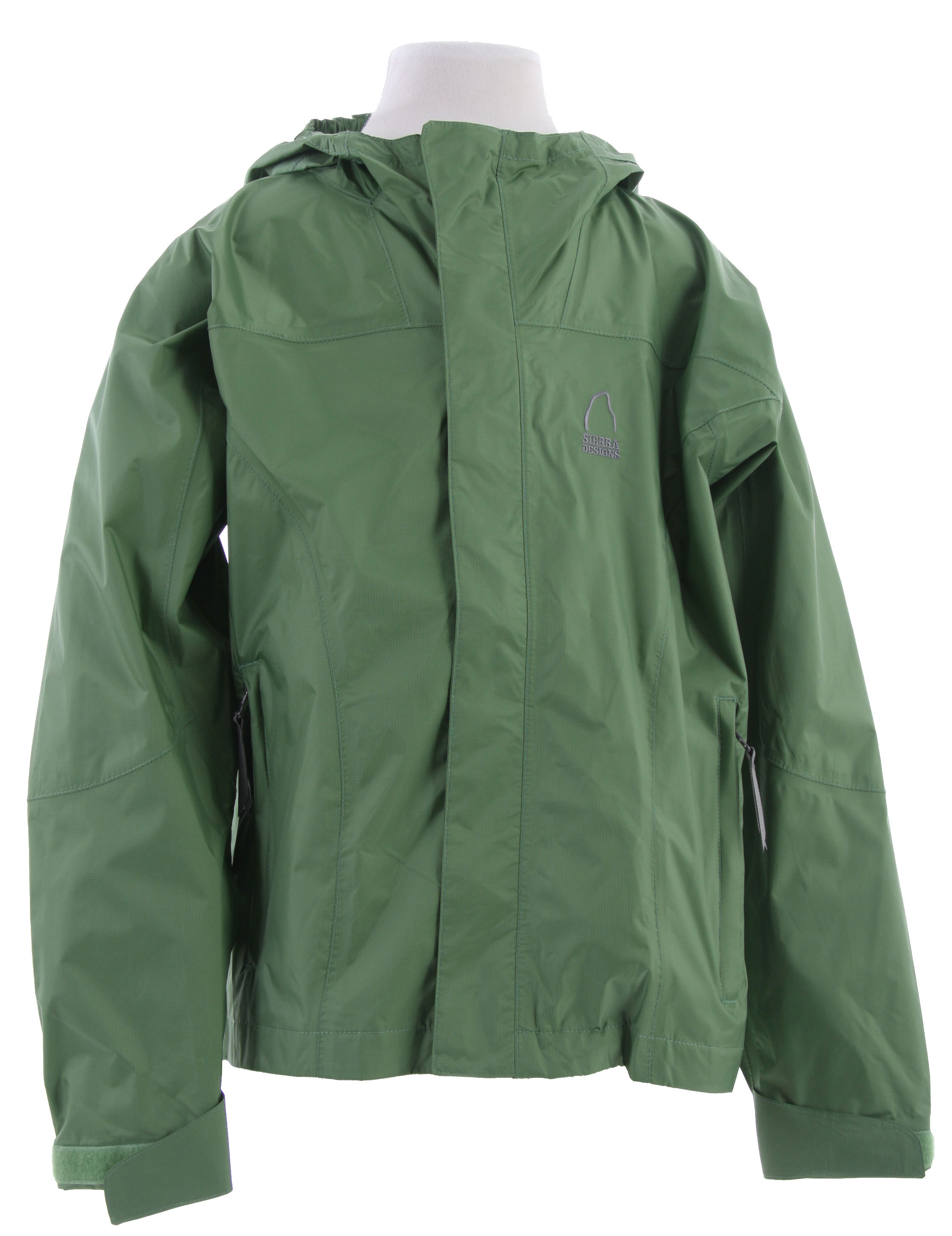 "Waterproof, breathable, the Sierra Designs Hurricane Girl's Shell Jacket is designed specifically for girls. We build these out of our reliable Hurricane fabric, with seam sealing and an adjustable hood.Key Features of the Sierra Designs Hurricane Girl's Shell Jacket: 5,000mm Waterproof 5,000g Breathability Fully Taped PVC-Free Seams Encased Elastic on Each Side of Hood and Hood Has Visor Reverse Coil Center Front Zipper 2 Zippered Hand Pockets 1 Zippered Interior Chest Pocket with Earbud Portal Adjustable Cuffs Center Back Length 23.25"" (M) Weight 8.5 oz Hurricane 5,000/5,000) 100% Nylon Ripstop, 40D, Solvent-Free Laminate with DWR finish, 3.45 oz/yd; (117 g/sqm) - $43.95"