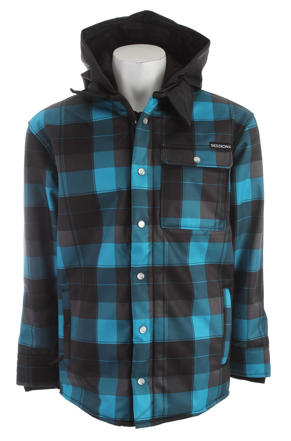 Sessions Outlaw Plaid Softshell Blue Plaid - $78.64
